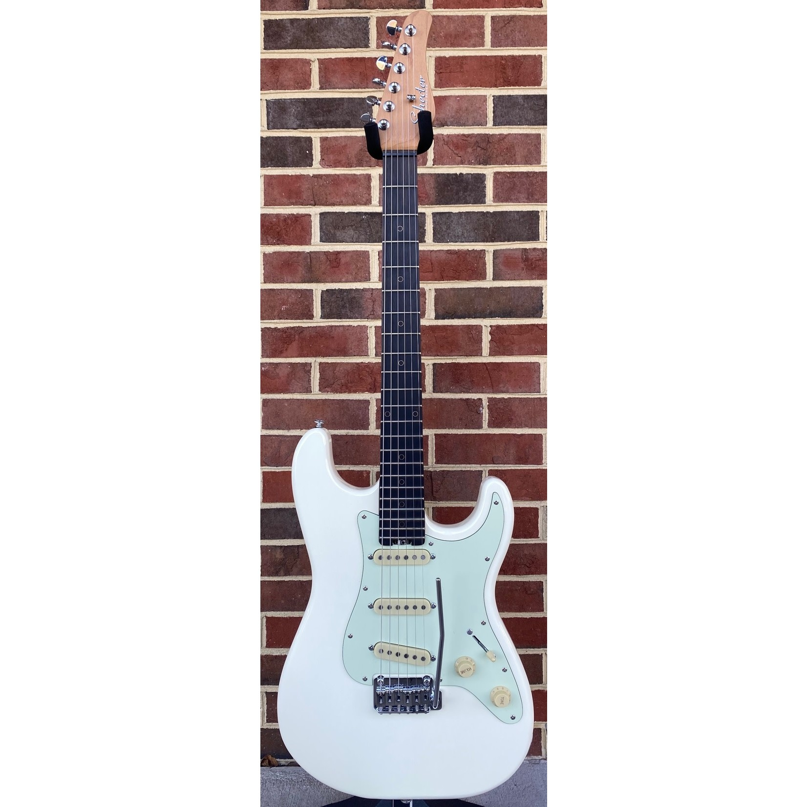 """Schecter Guitar Research Schecter Nick Johnston Traditional, Atomic Snow, Ebony FB, Locking Tuners, Roasted Maple Neck, 14"""" Radius"""