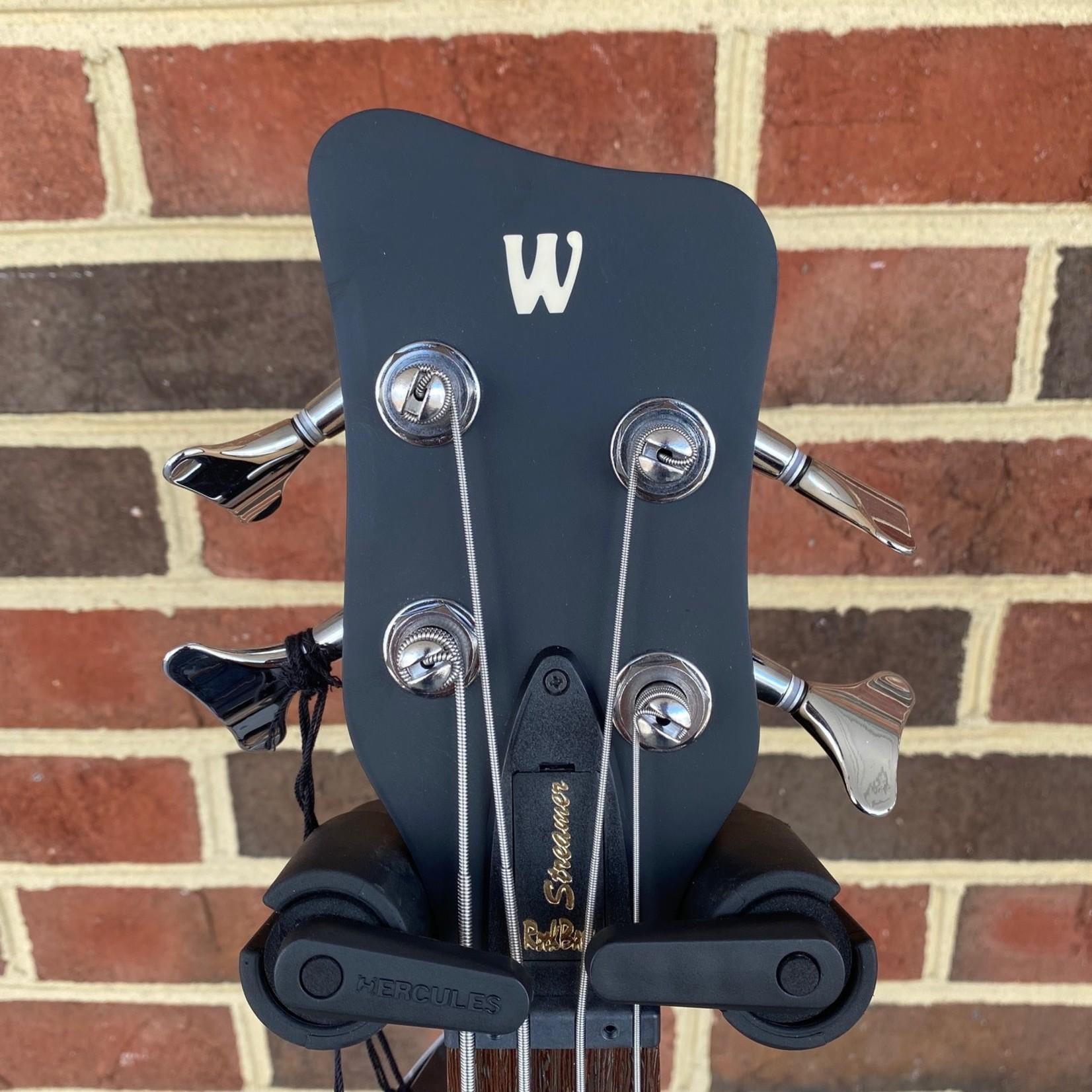 Warwick Warwick RockBass Streamer, 4-String, Nirvana Black Transparent Satin, Passive MEC Vintage Humbuckers, RockBass Preamp, Gig Bag