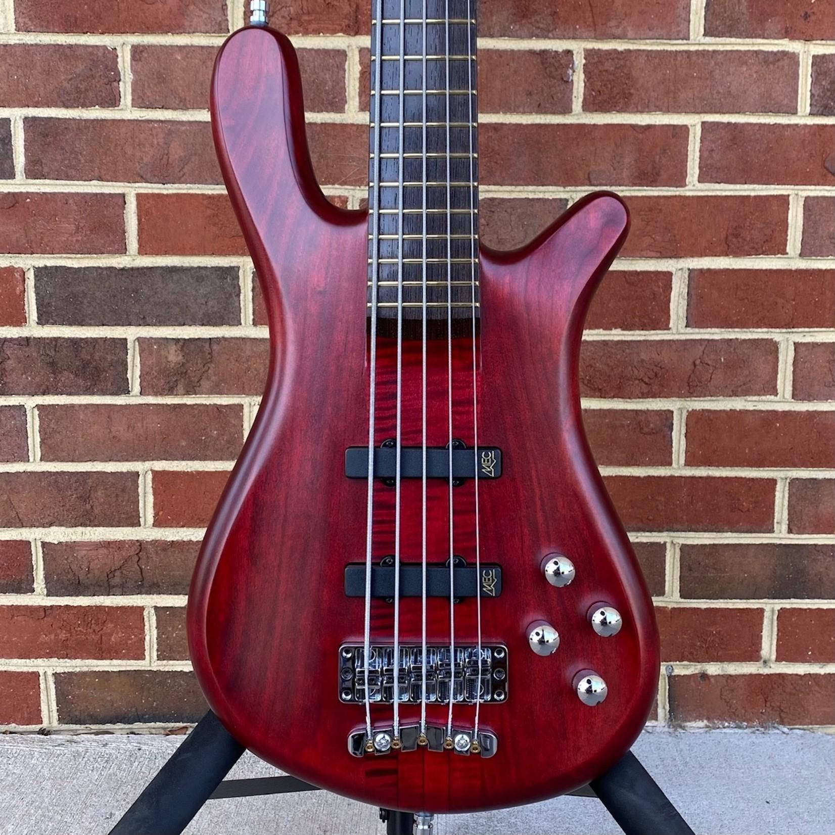 Warwick Warwick Pro Series Streamer Stage 1 5-String, Burgundy Red Transparent Satin, Neck-Thru, Cherry Body, Flamed Maple Neck, Wenge Fretboard, Gig Bag