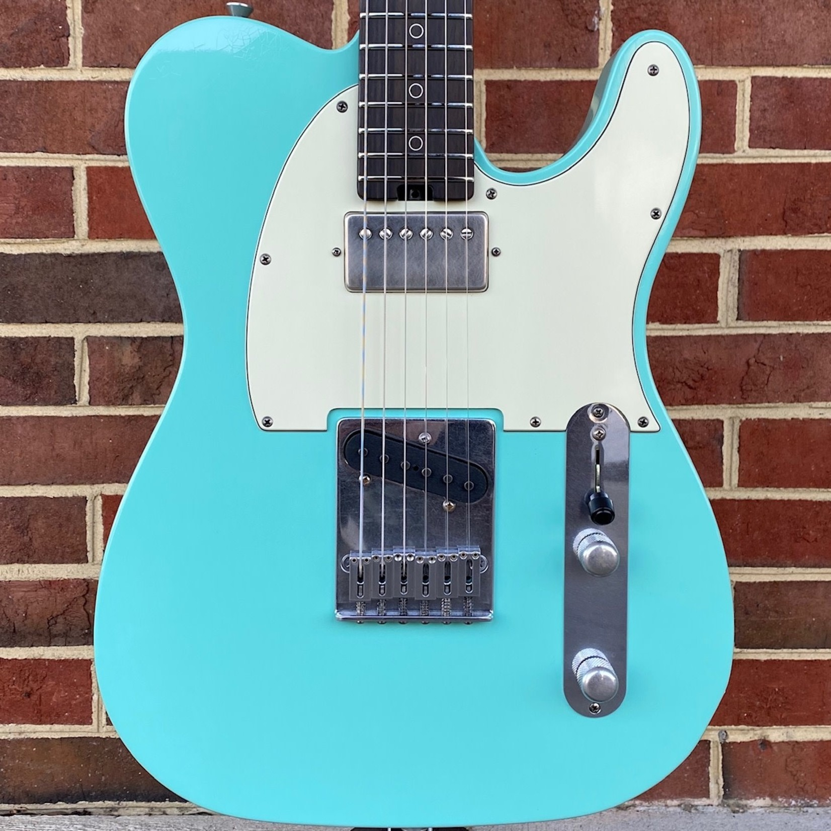 Schecter Guitar Research Schecter USA Custom Shop Nick Johnston PT, Atomic Green, Wenge Neck, Macassar Ebony, Alder Body, Aged Hardware, Hardshell Case
