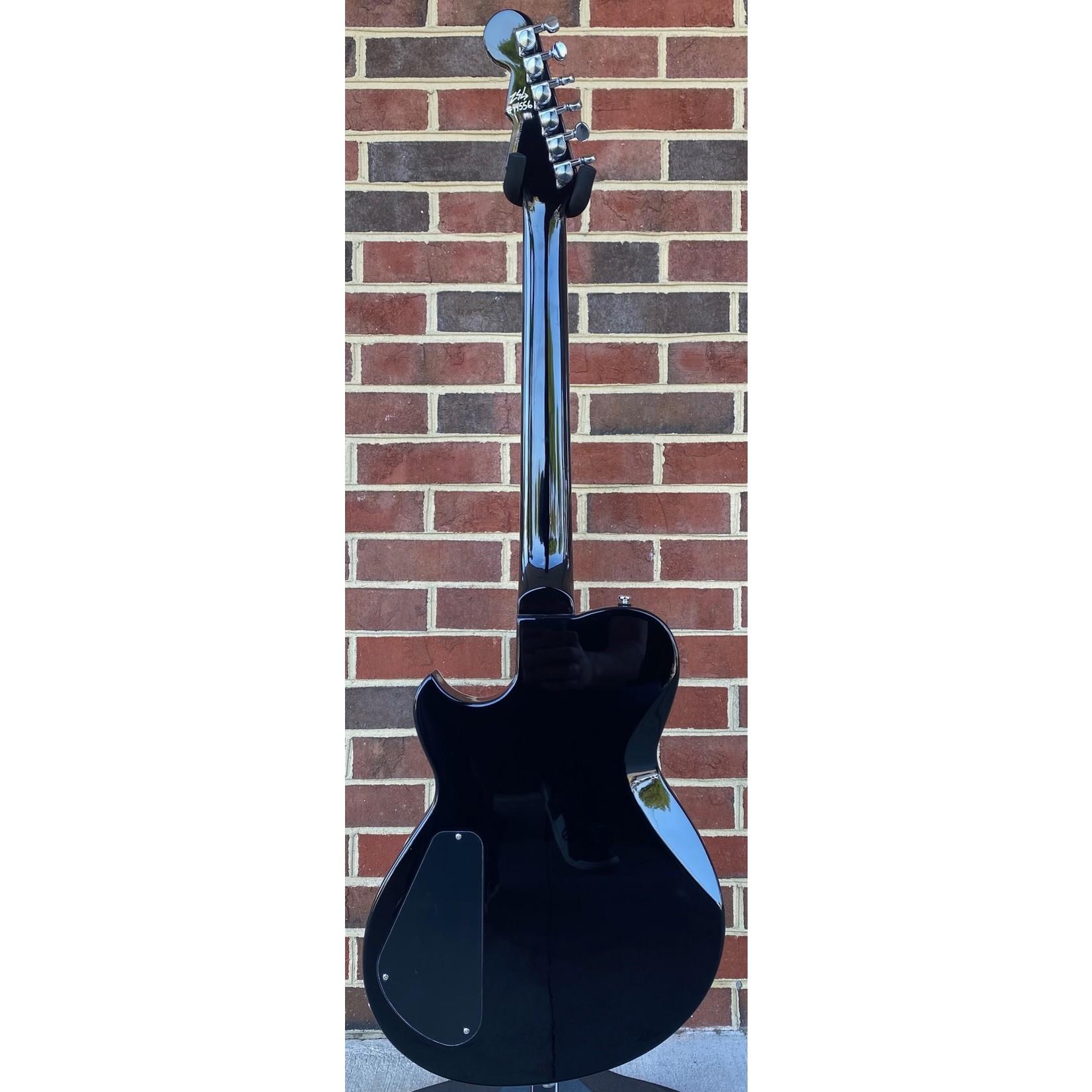 Reverend Reverend Guitars Contender 290, Midnight Black, Roasted Maple Neck, Pau Ferro Fretboard, Korina Body, Locking Tuners