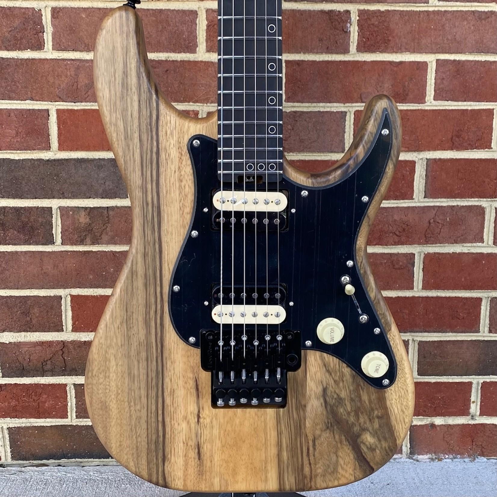 Schecter Guitar Research Schecter Sun Valley Super Shredder Exotic, Black Limba Body, Wenge Neck, Ebony Fretboard, Floyd Rose
