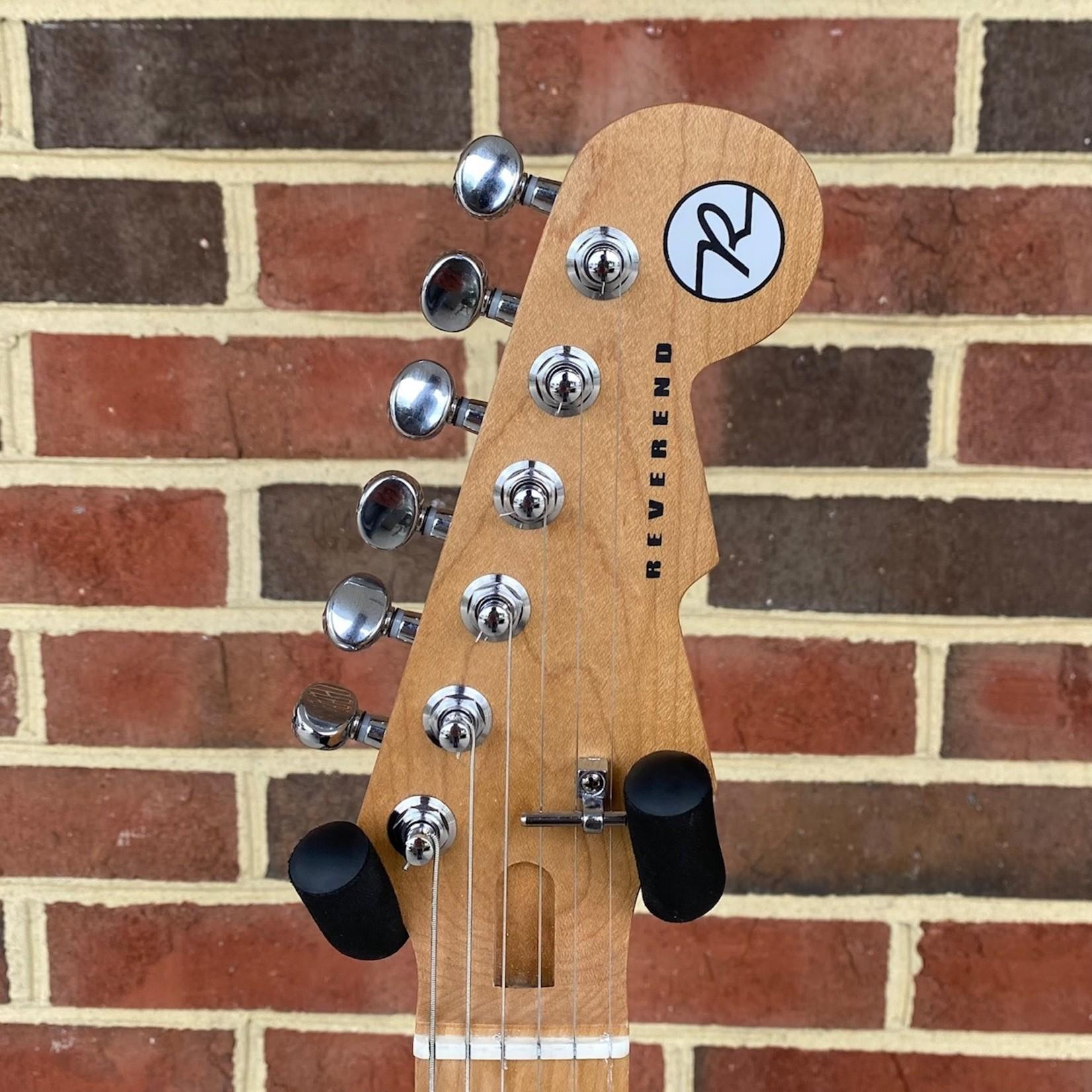 Reverend Reverend Guitars Gil Parris Signature GPS, Midnight Black, Roasted Maple Neck and Fretboard, Korina Body, Locking Tuners, Fishman Fluence Pickups