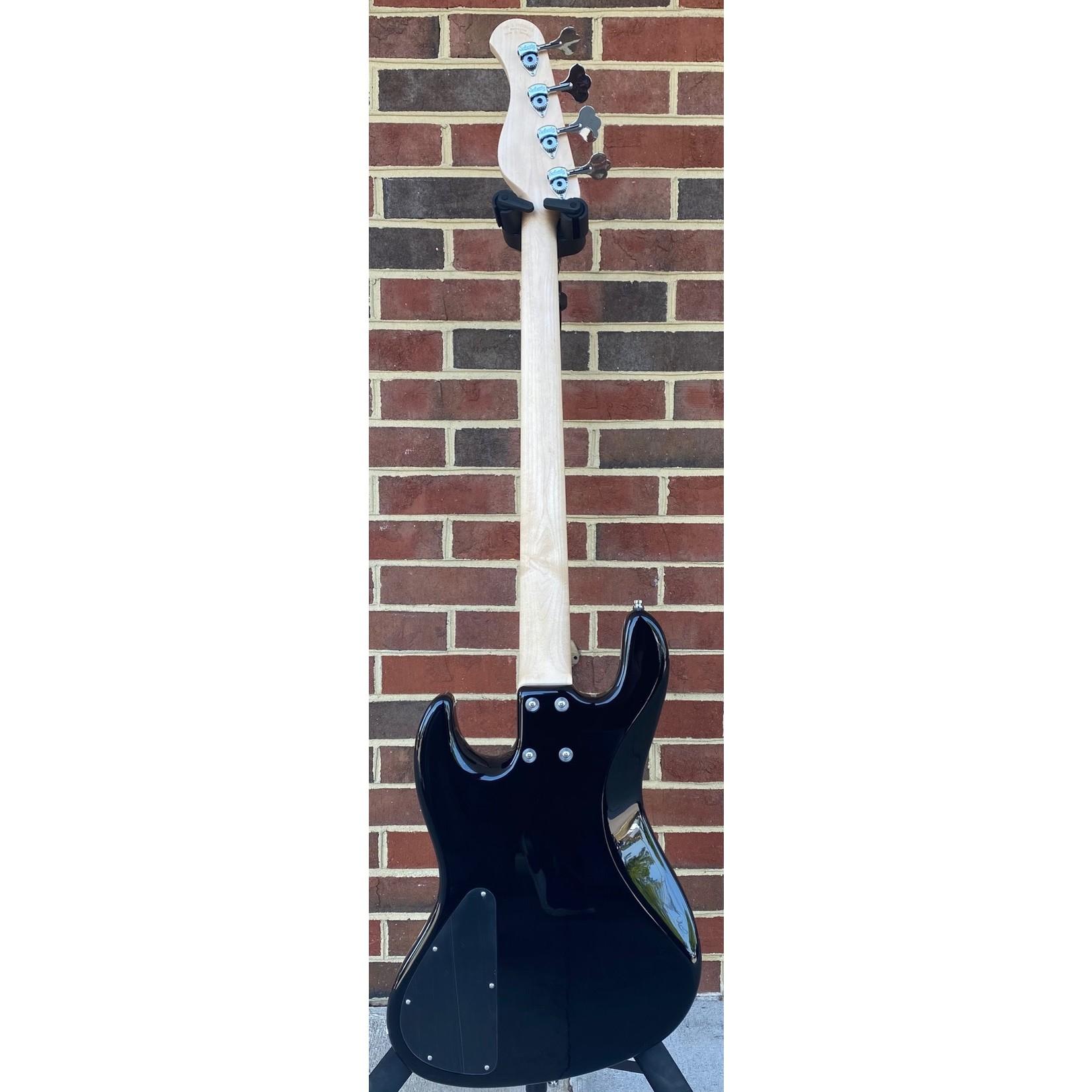 Sadowsky Sadowsky MetroLine 21-Fret Vintage J/J, Swamp Ash Body, Solid Black High Polish, Maple Fretboard