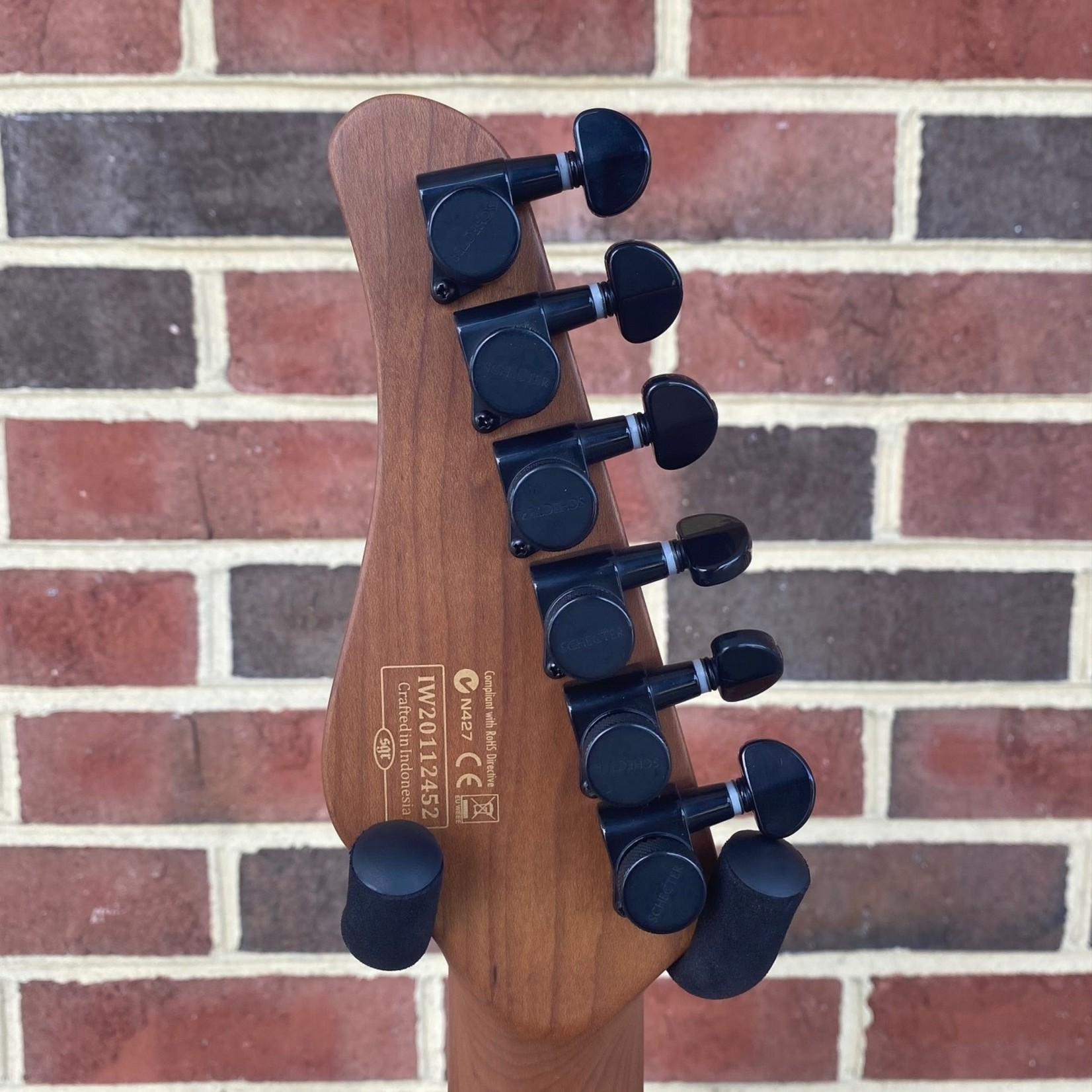 Schecter Guitar Research Schecter PT Pro, Trans Blue Burst, Roasted Maple Neck, Locking Tuners