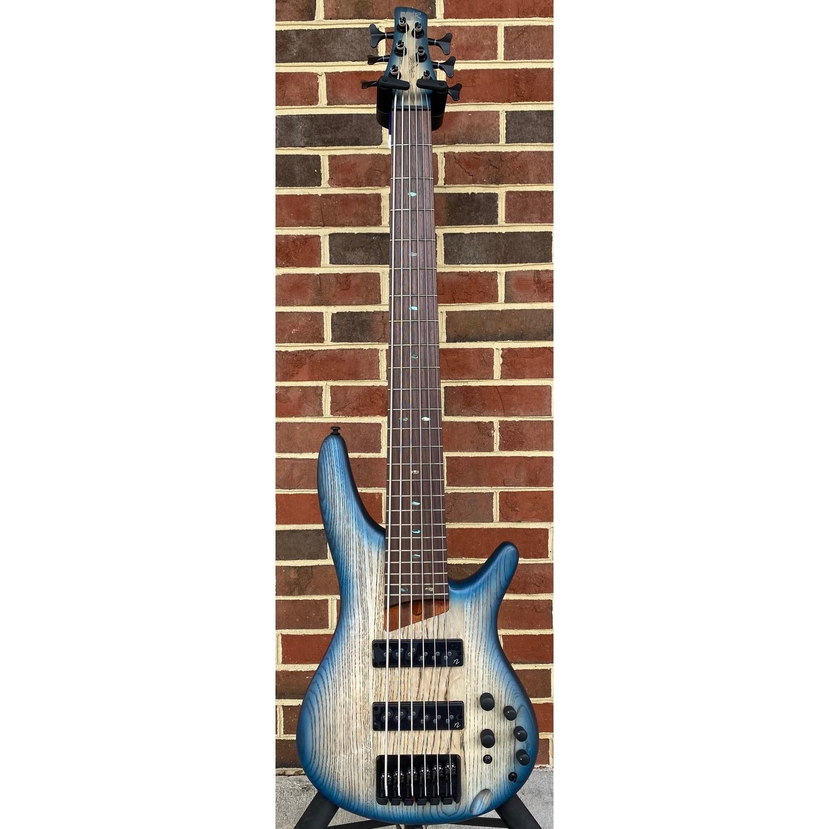 Ibanez Ibanez SR606ECTF, 6-String Bass, Cosmic Blue Starburst Flat, Nordstrand Pickups, Ash Body