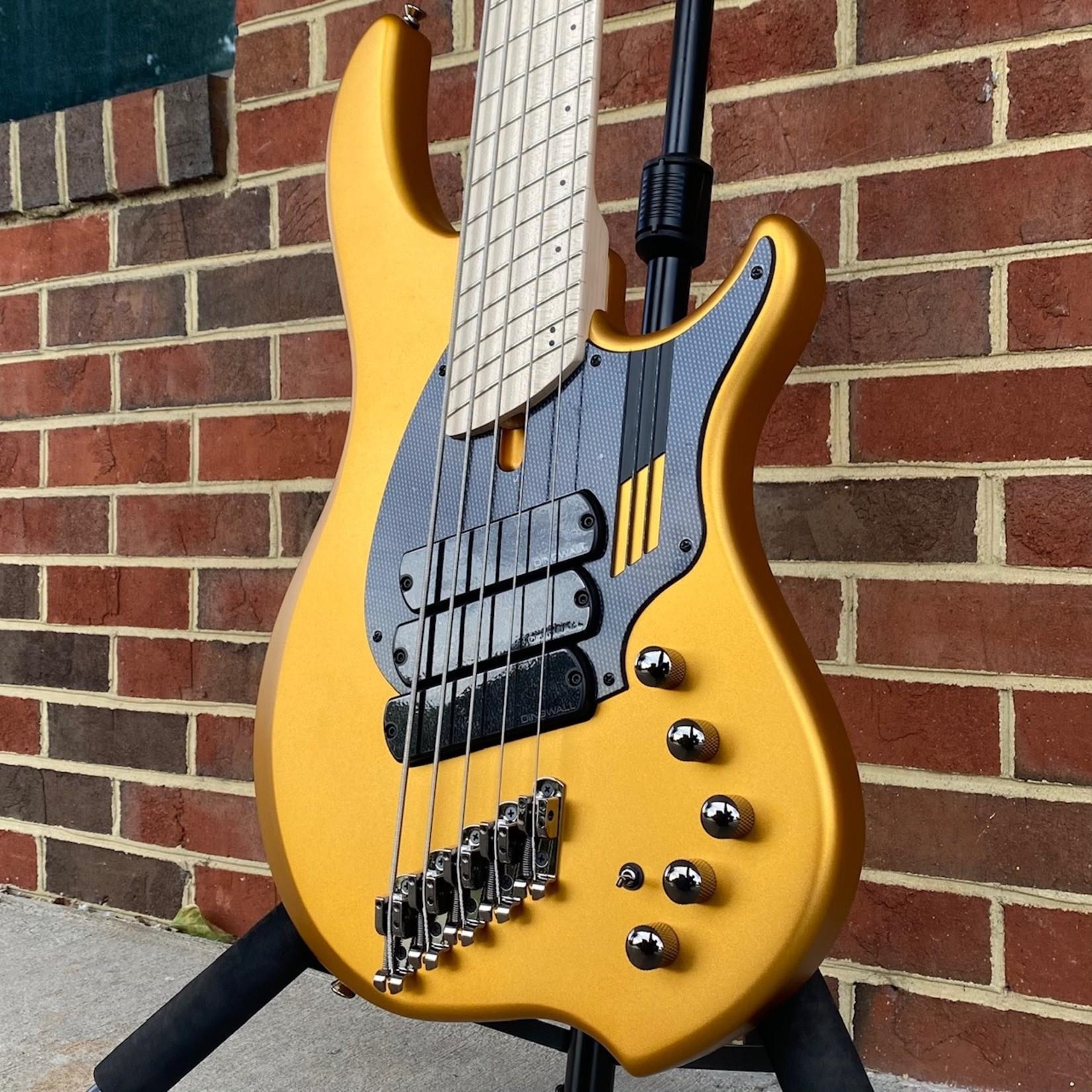 Dingwall Dingwall NG3 5-String, 3x Pickups, Matte Gold Metallic, Maple Fretboard, Matching Headstock, Dingwall Gig Bag, SN# 9446