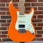 Schecter Guitar Research Schecter Nick Johnston Traditional HSS, Atomic Orange, Roasted Maple Neck, Ebony Fretboard, Locking Tuners