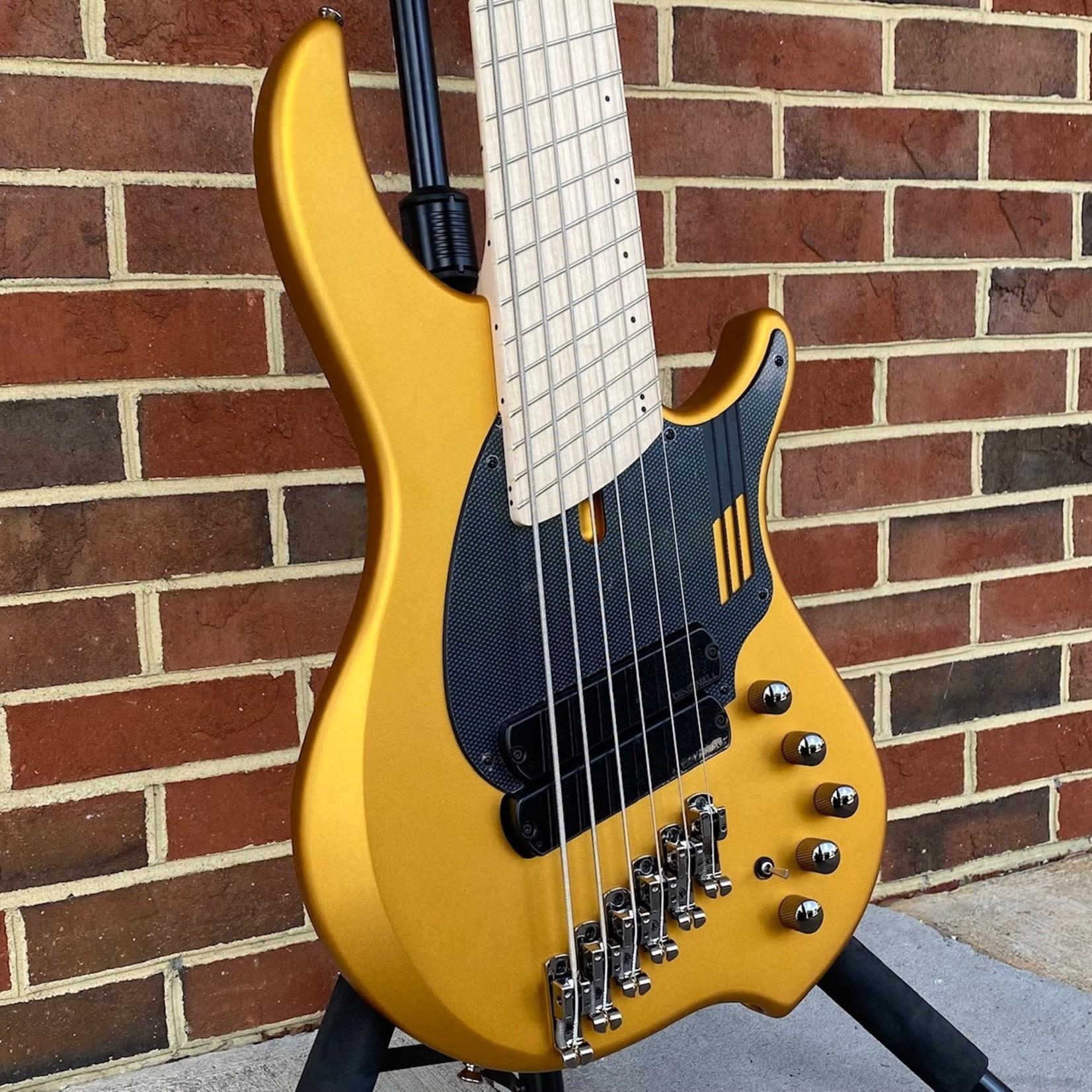 Dingwall Dingwall NG2 6-String, Matte Gold Metallic, Maple Fretboard, Matching Headstock, Dingwall Gig Bag, SN# 9647