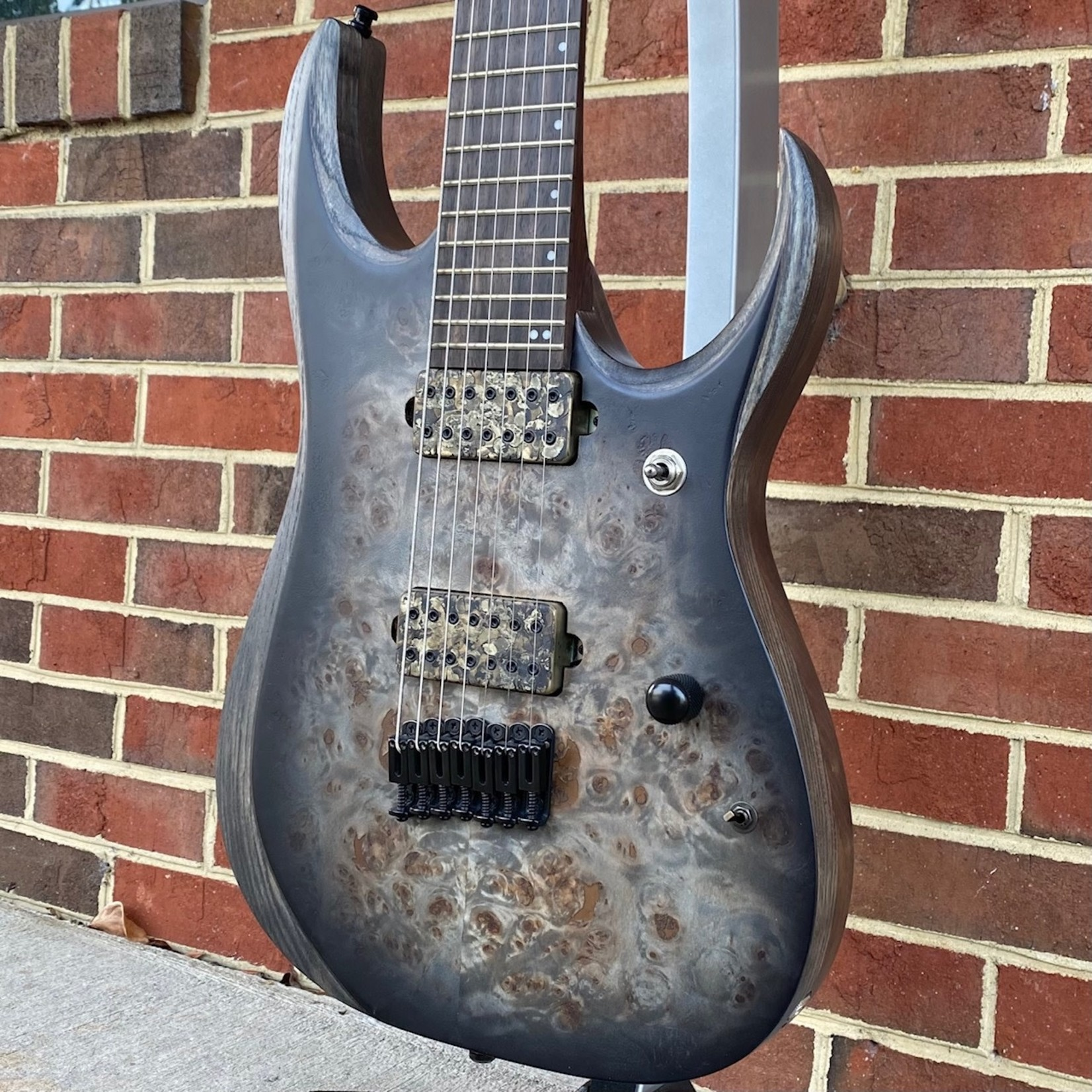Ibanez Ibanez RGD71ALPACKF Axion Label, Charcoal Burst Black Stained Flat, Bareknuckle Aftermath Pickups, SN# I210323525
