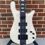 Spector Spector USA NS-4, Tuxedo Bass, Quilted Maple Top, Chambered Reclaimed Redwood Body,  Ebony Fretboard, Mother of Pearl Inlays, Luminlay Side Dots, High Gloss, TSA Case