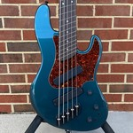 Dingwall Dingwall Super J Custom 5-String, Alder Body, Dark Lake Placid Blue, Tortoise Shell Pickguard, Passive Electronics w/ Series/Parallel Toggles, Maple Neck, Wenge Fretboard, White Pearloid Dots and Side Markers, Dingwall Deluxe Gig Bag