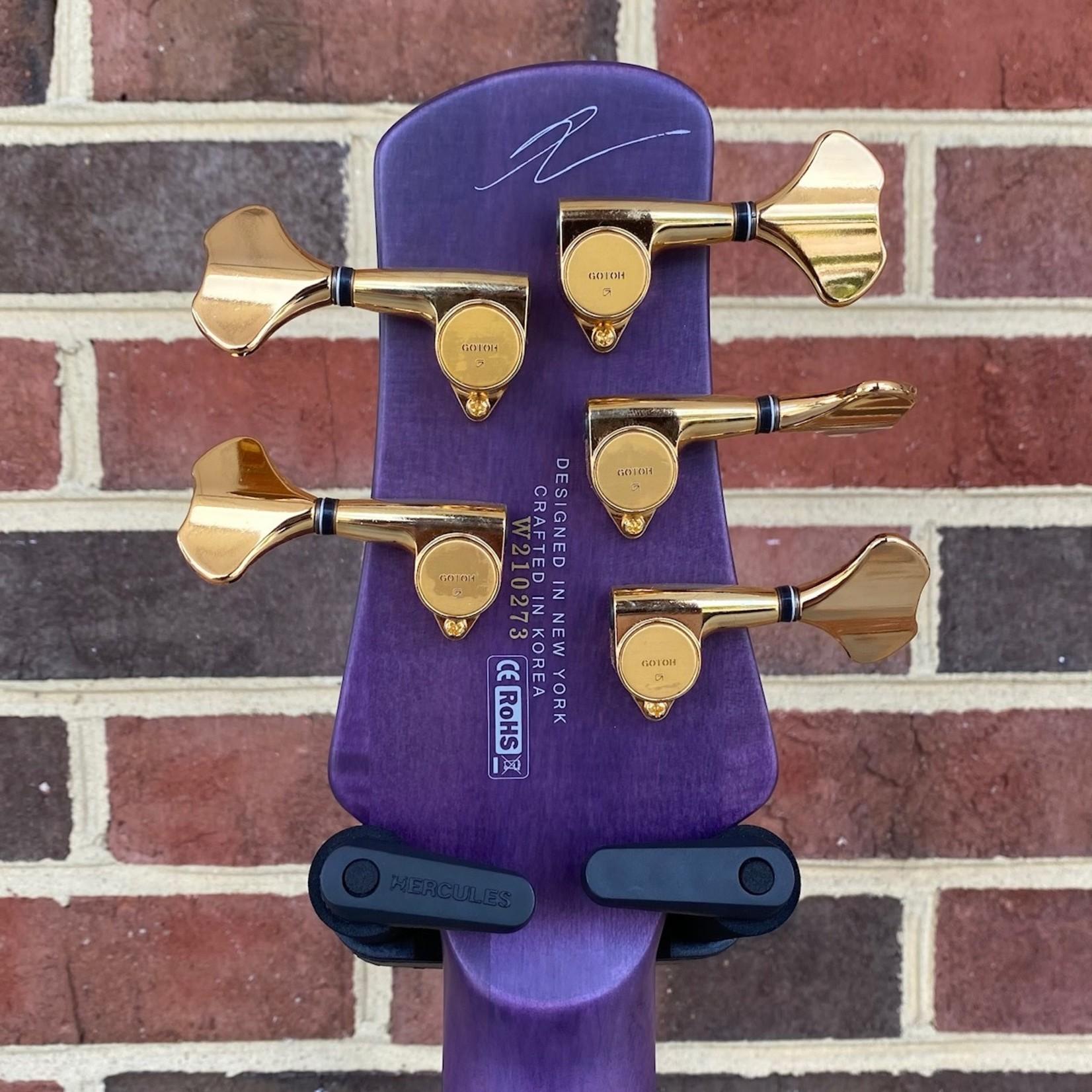 Spector Spector Skyler Acord Signature Model, 5-String, Neck-Thru, Violet Stain Matte, Custom Wound Bartolini Pickup, Spector Tone Pump Jr. Preamp