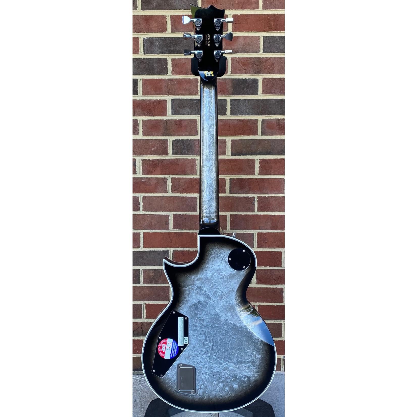 ESP ESP Original Eclipse Custom, Liquid Metal Silver Burst, EMG Het Set, Hardshell Case