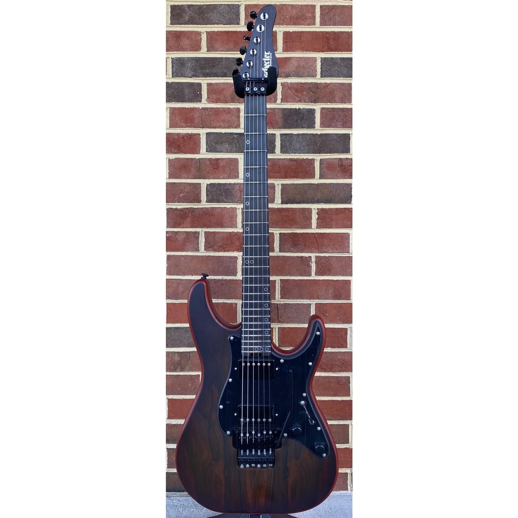 Schecter Guitar Research Schecter Sun Valley Super Shredder Exotic, Ziricote, Black Limba Body, Wenge Neck, Ebony Fretboard, Grover Tuners, Floyd Rose Trem