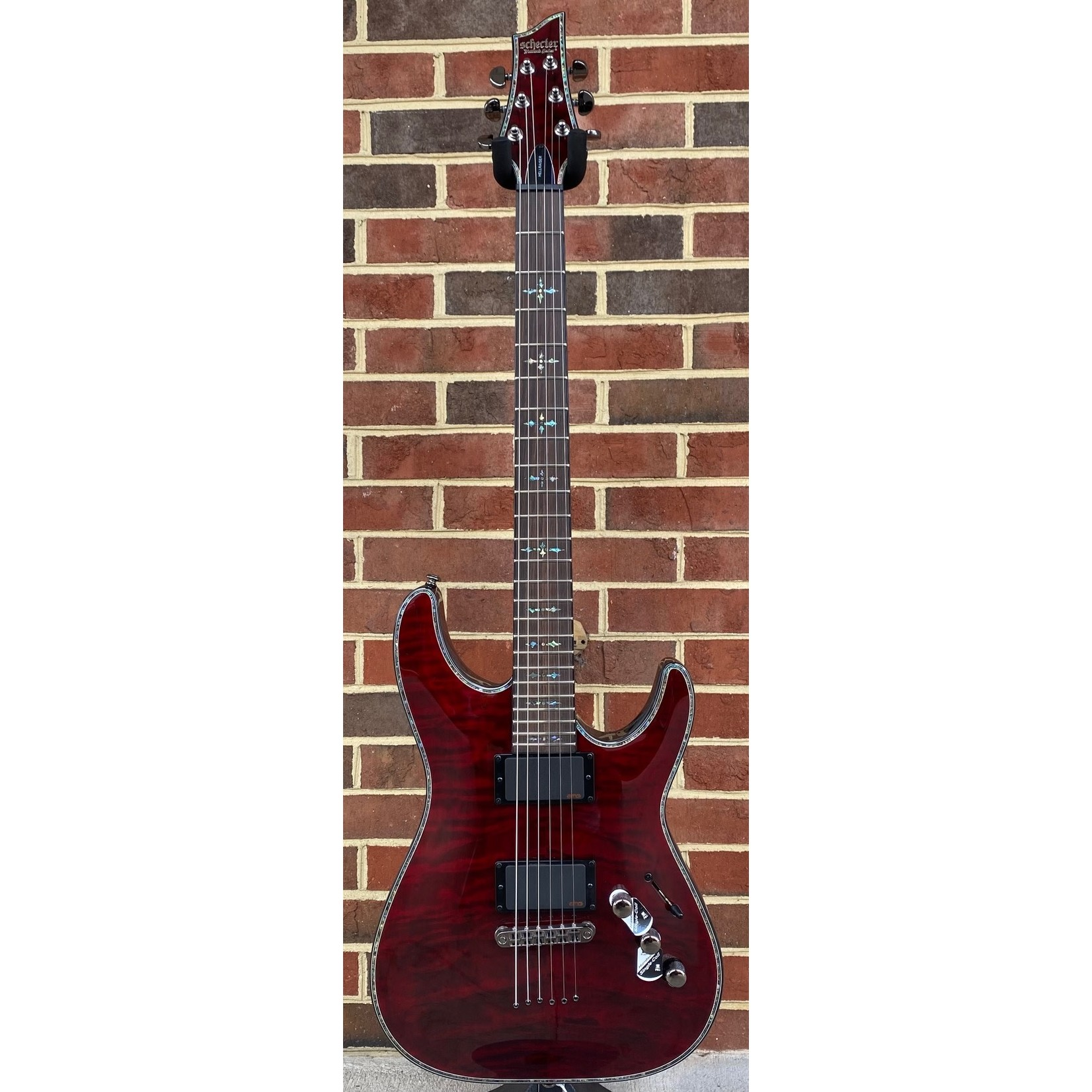 Schecter Guitar Research Schecter Hellraiser C-1, Black Cherry, Quilted Maple Top, EMG 81TW/89R pickups, Schecter Locking Tuners