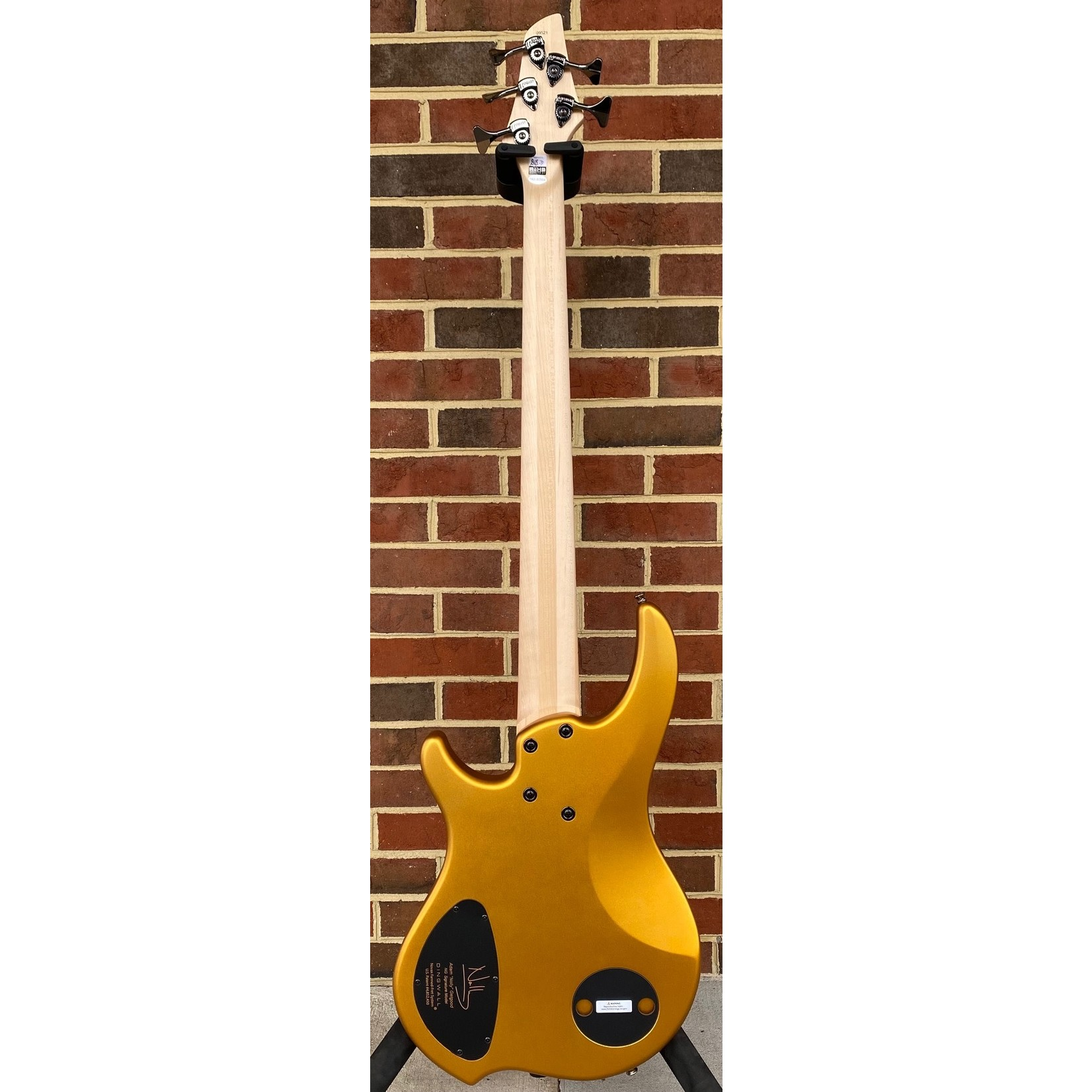 Dingwall Dingwall NG3 5-String, Matte Gold Metallic, Maple Fretboard, Matching Headstock, Dingwall Gig Bag, SN# 9521