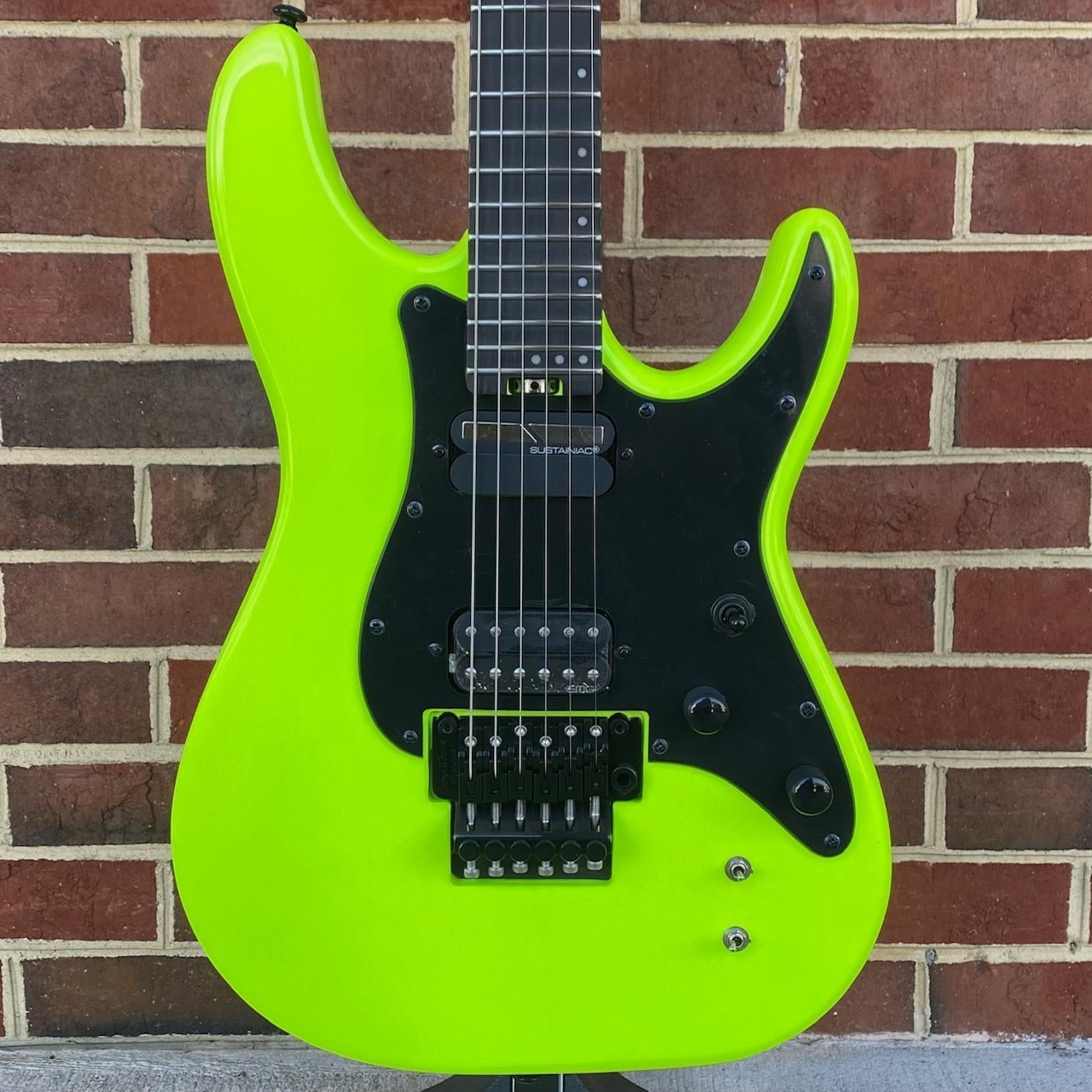 "Schecter Guitar Research Schecter Sun Valley Super Shredder FR, Birch Green, Floyd Rose Special ""Hot Rod"" Trem, EMG Retro Active Bridge Pickup, Sustainiac Neck Pickup, Maple Neck, Maple Fretboard"