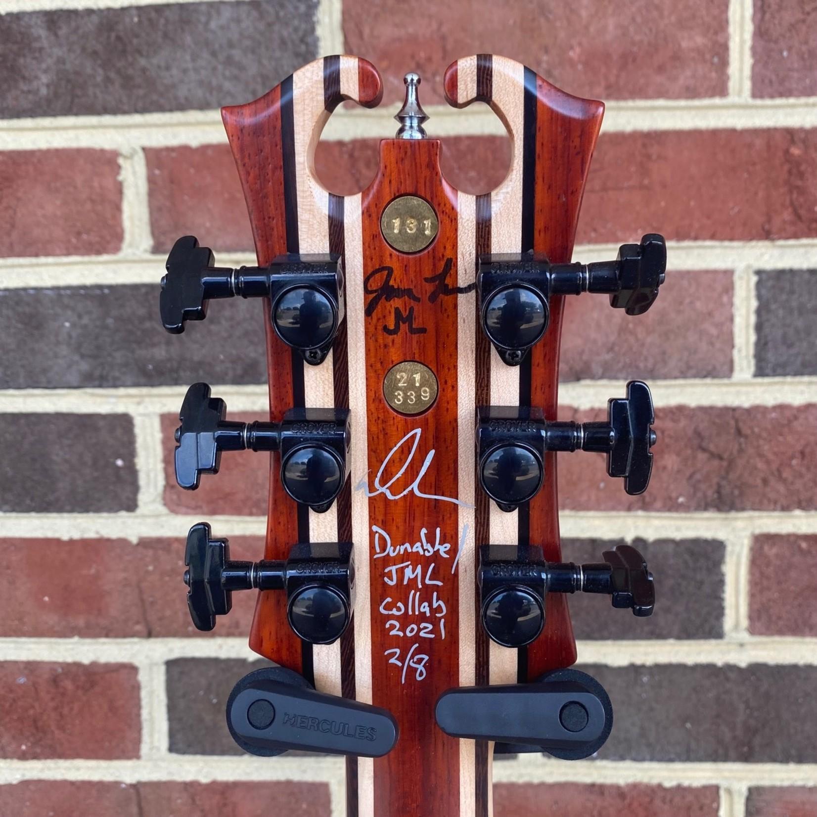 Dunable Guitars Dunable/JML Asteroid, Neck-Thru, Padauk Body, 9pc Padauk/Maple/Wenge/Ebony Neck, Ebony Fretboard, Baphomet Pickups, JML Hardshell Case