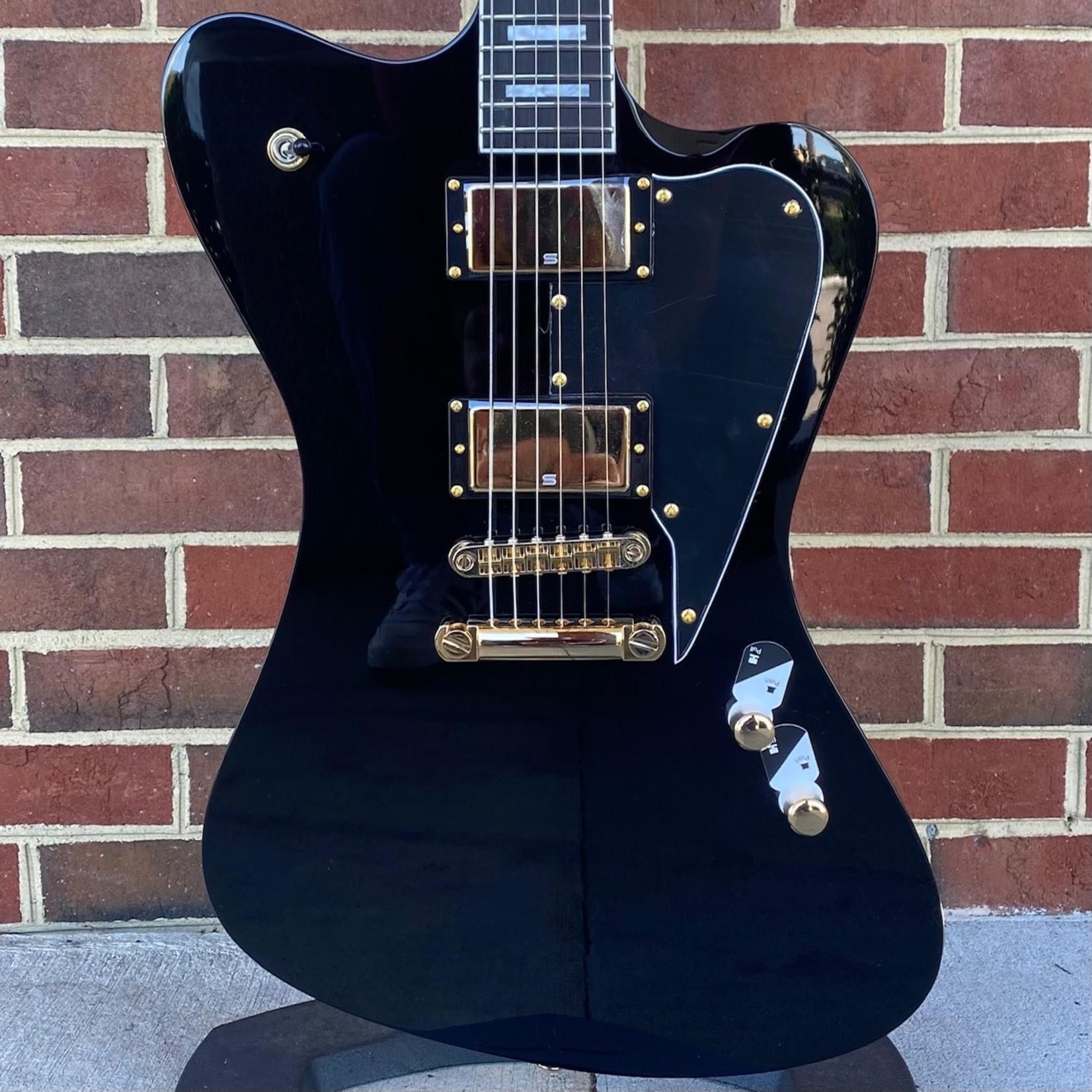 LTD ESP LTD Sparrowhawk, Bill Kelliher Signature Model, Black, Gold Hardware, Seymour Duncan Distortion, Hardshell Case
