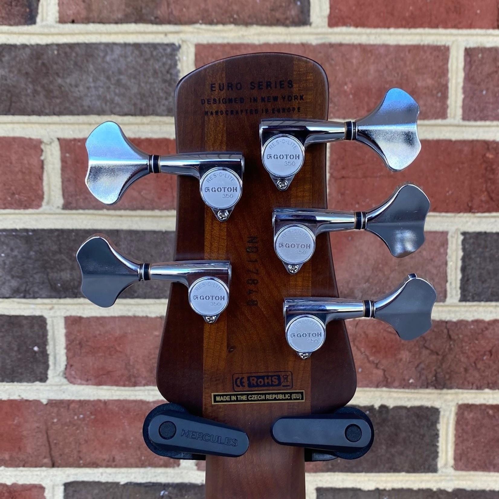 Spector Spector EURO5RSTTRQTD, Turquoise Tide Matte, 5-String, Roasted Maple Neck-Thru, Roasted Maple Fretboard, Aguilar Pickups & Preamp, Gig Bag