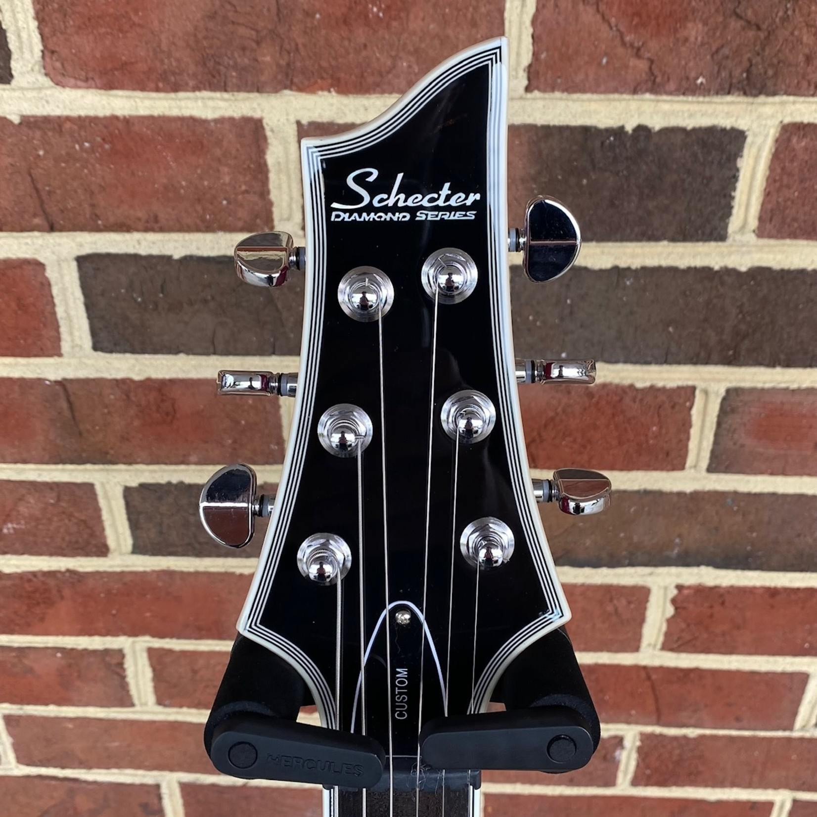 Schecter Guitar Research Schecter V-1 Custom, Trans Purple, Flame Maple Top, Ebony Fretboard, Block Inlays, Locking Tuners