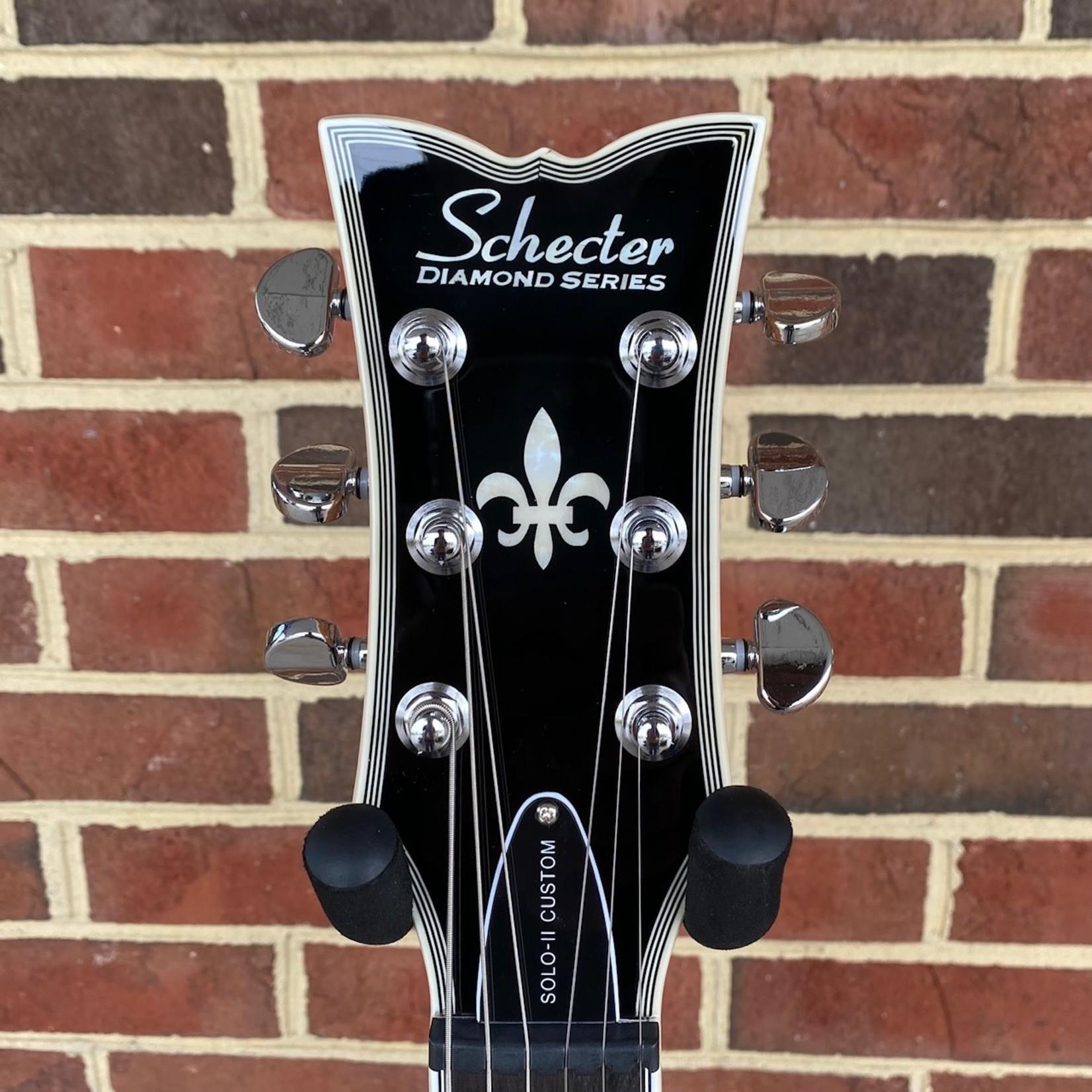 Schecter Guitar Research Schecter Solo II Custom, Trans Black Burst, Ebony Fretboard, Block Inlays, Locking Tuners