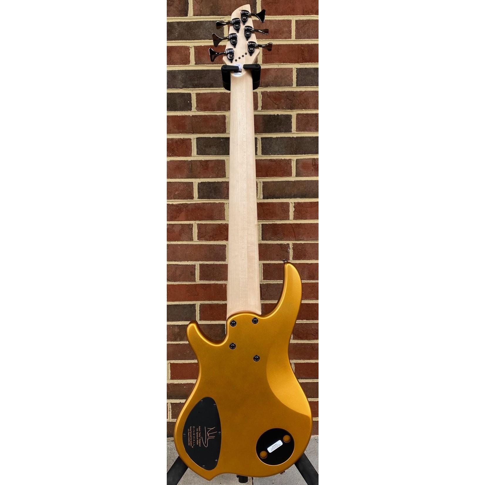 Dingwall Dingwall NG3 6-String, Matte Gold Metallic, Maple Fretboard, Matching Headstock, Dingwall Gig Bag, SN# 10063
