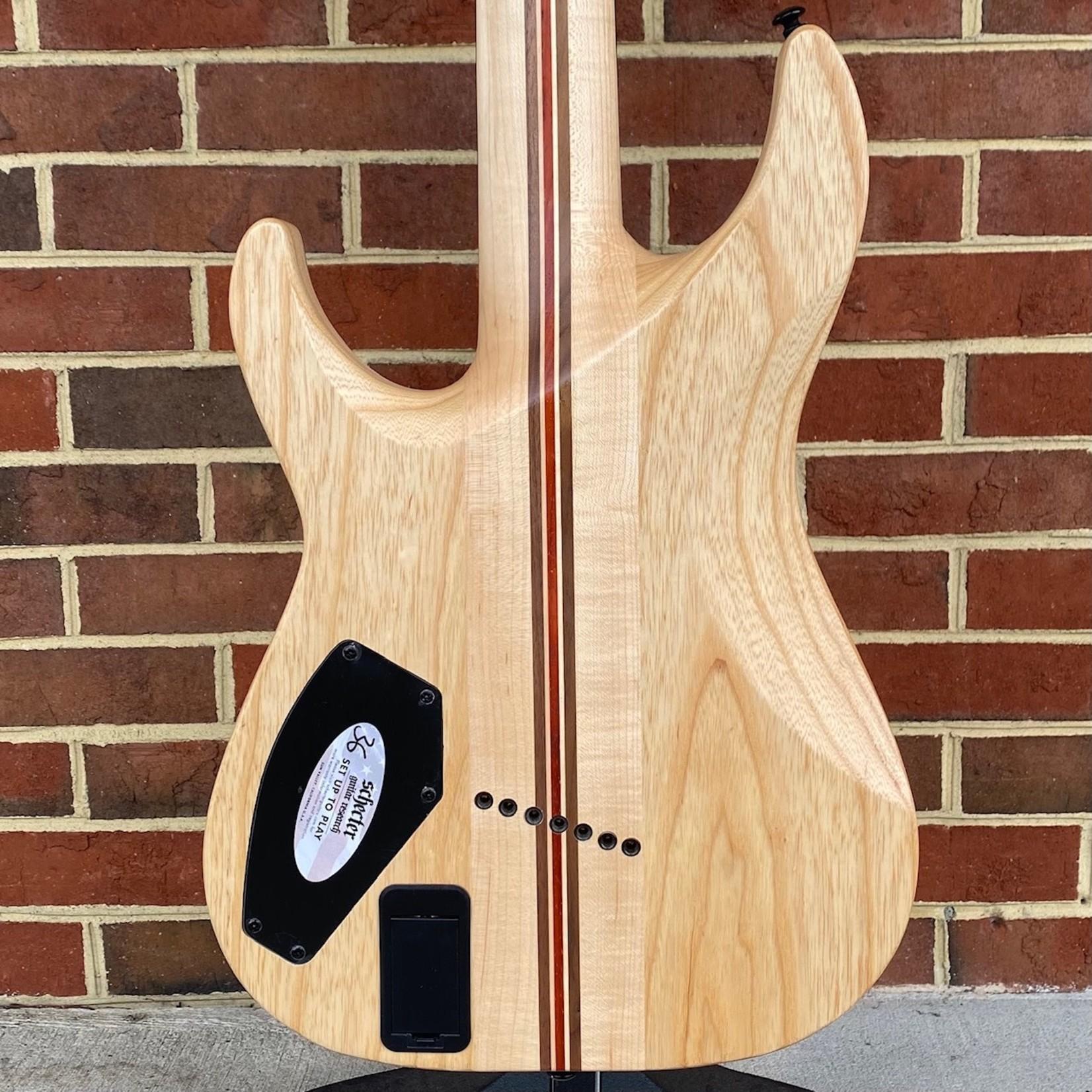 Schecter Guitar Research Schecter C-7 Multiscale SLS Elite, Gloss Natural, Flamed Maple Top, Neck Thru, Ebony Fretboard, Locking Tuners, Fishman Fluence Modern Pickups, Hipshot Bridge, SN# W21051718