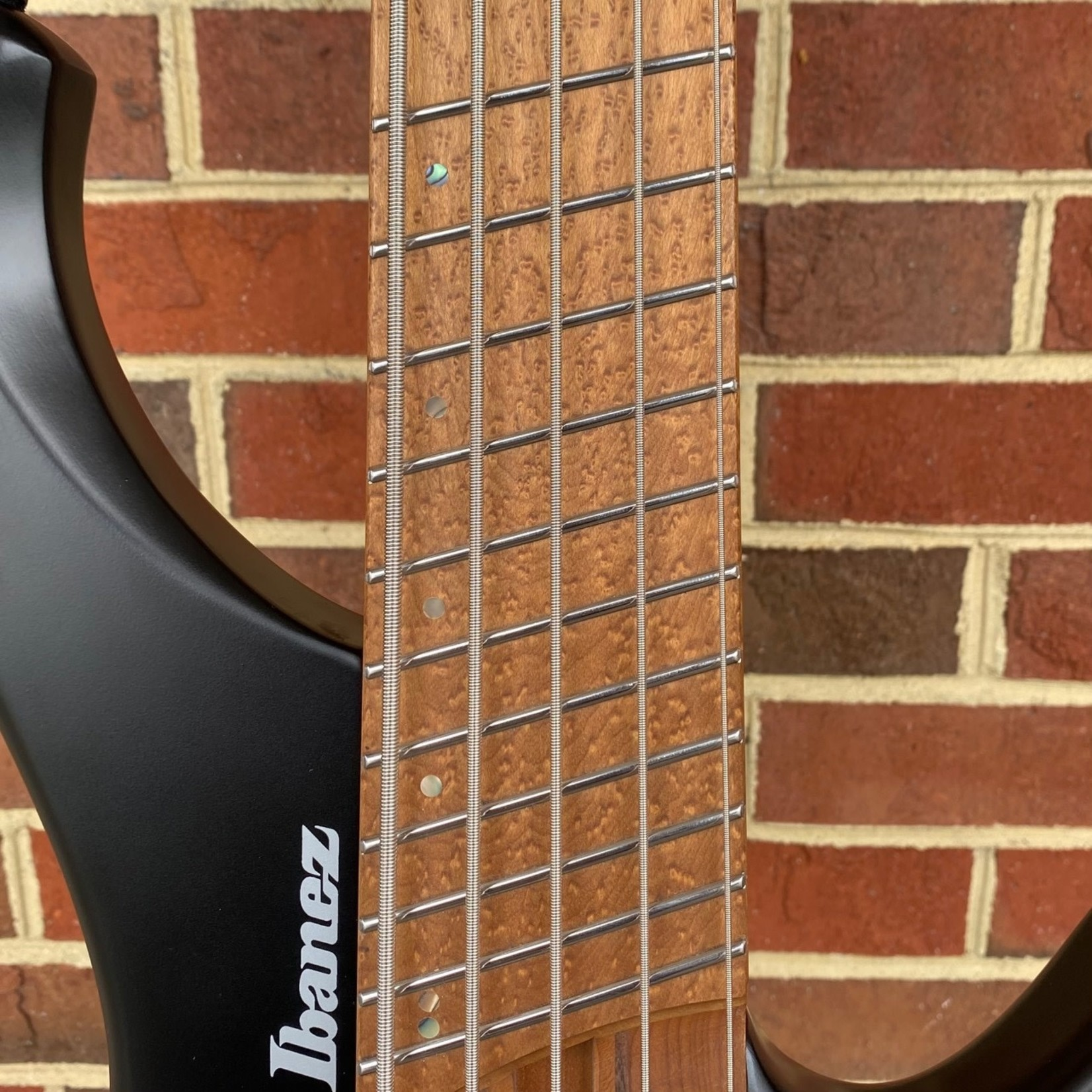 Ibanez Ibanez EHB1005MSBKF, Bass Workshop Headless Multi-Scale Bass, 5-String, Black Flat, SN# 211P01I201218124