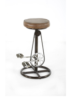 """New NST 2510165 Spencer 26""""H Bike Stool Brown Leather/ Iron"""