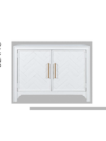New JO 2056-40 Gramercy 2 Door Accent Cabinet WhiteAnd Gold