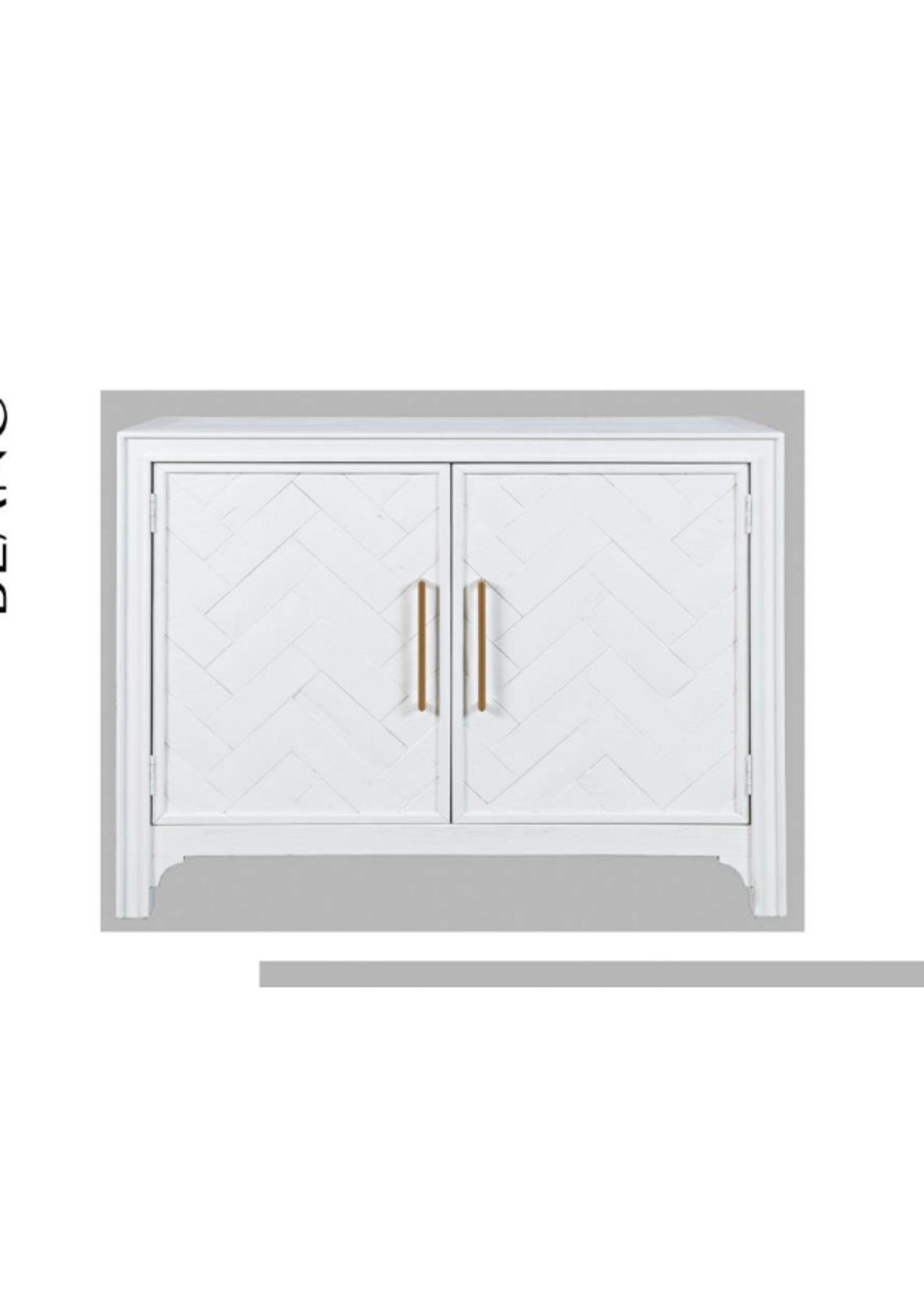 New Gramercy 2 Door Accent Cabinet White And Gold JO 2056-40