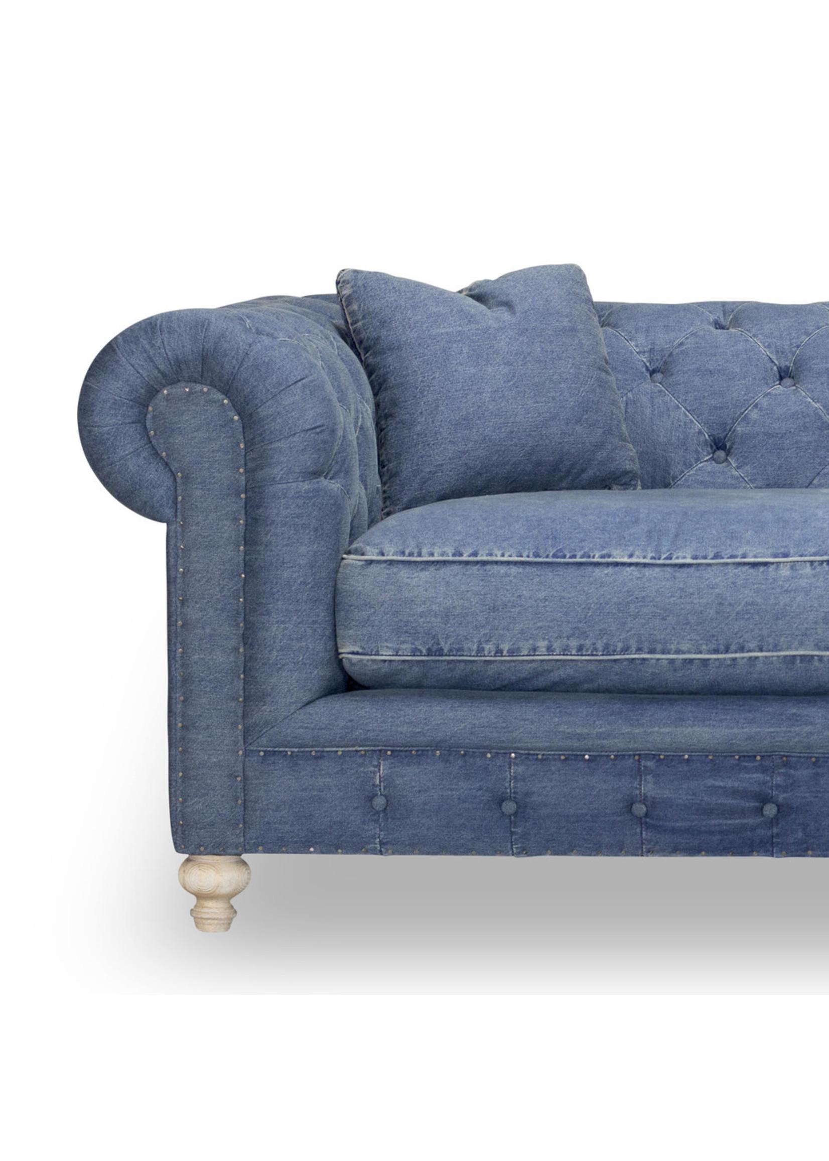 New Chesterfield Sofa in Denim SP