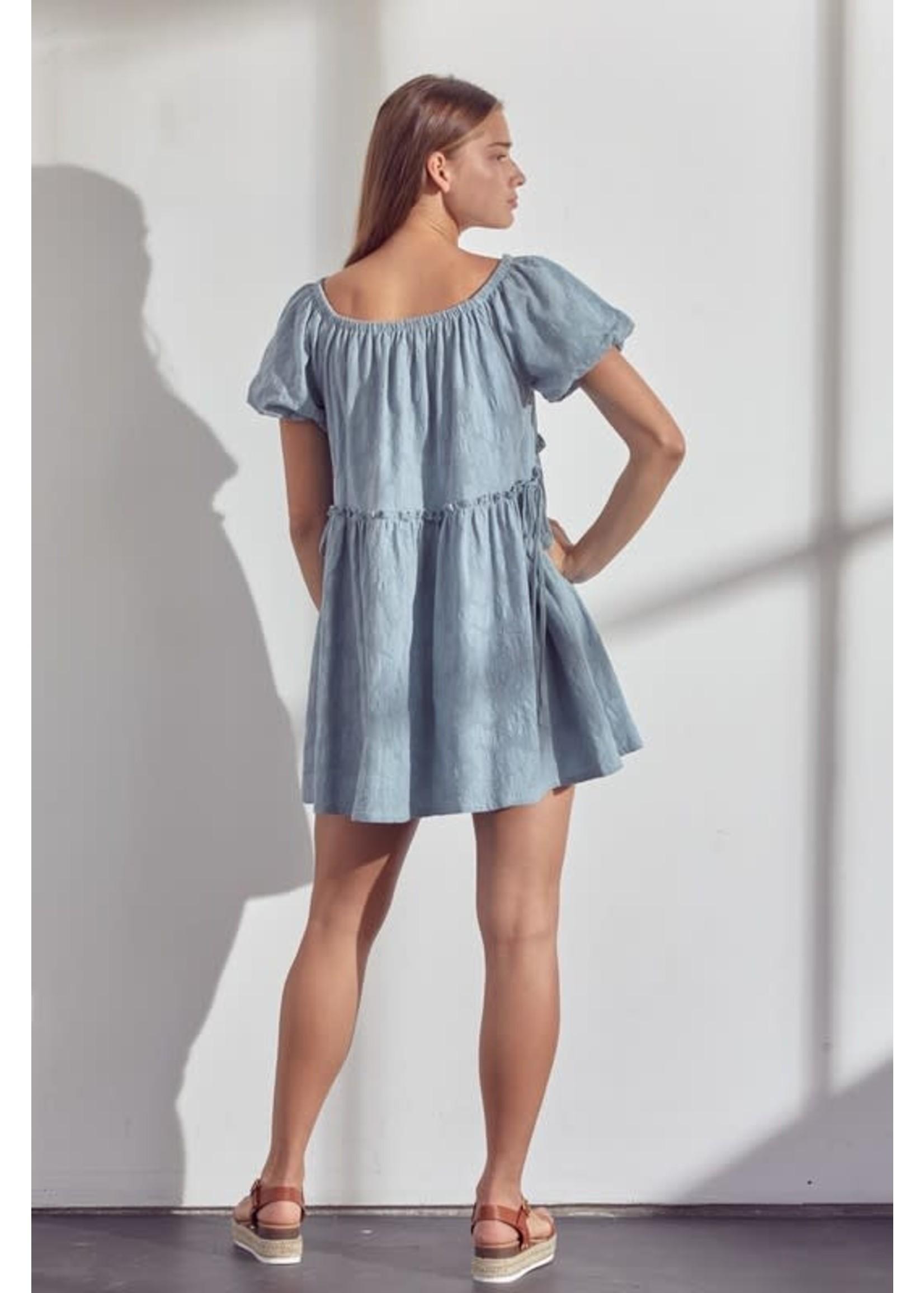 &Merci Puffy Sleeved Babydoll Dress - MDR9141