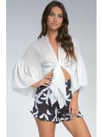 Elan Bell Sleeved Sarong Top - IG10015