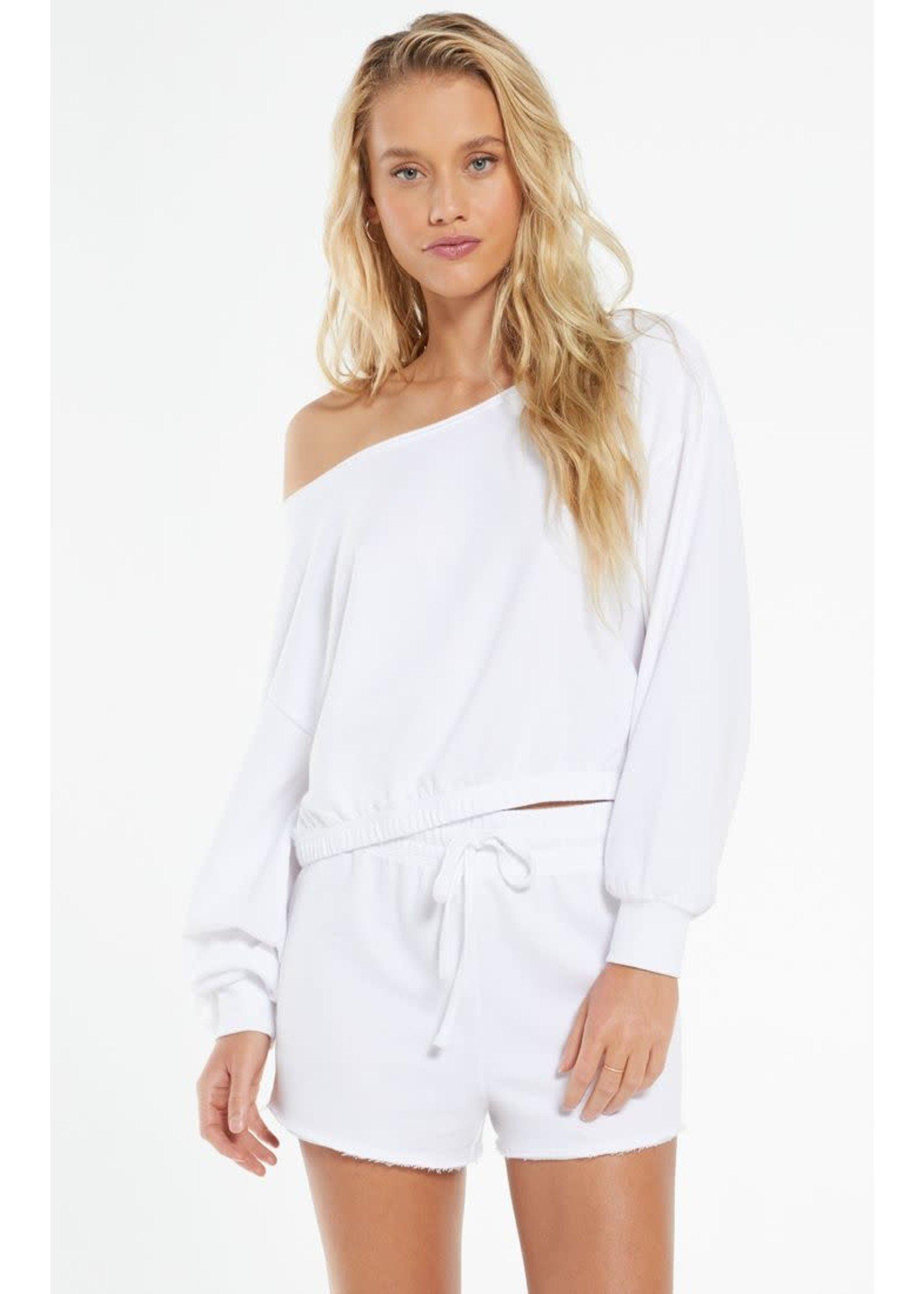 Z Supply Zoe Off The Shoulder Sweatshirt - ZT212511