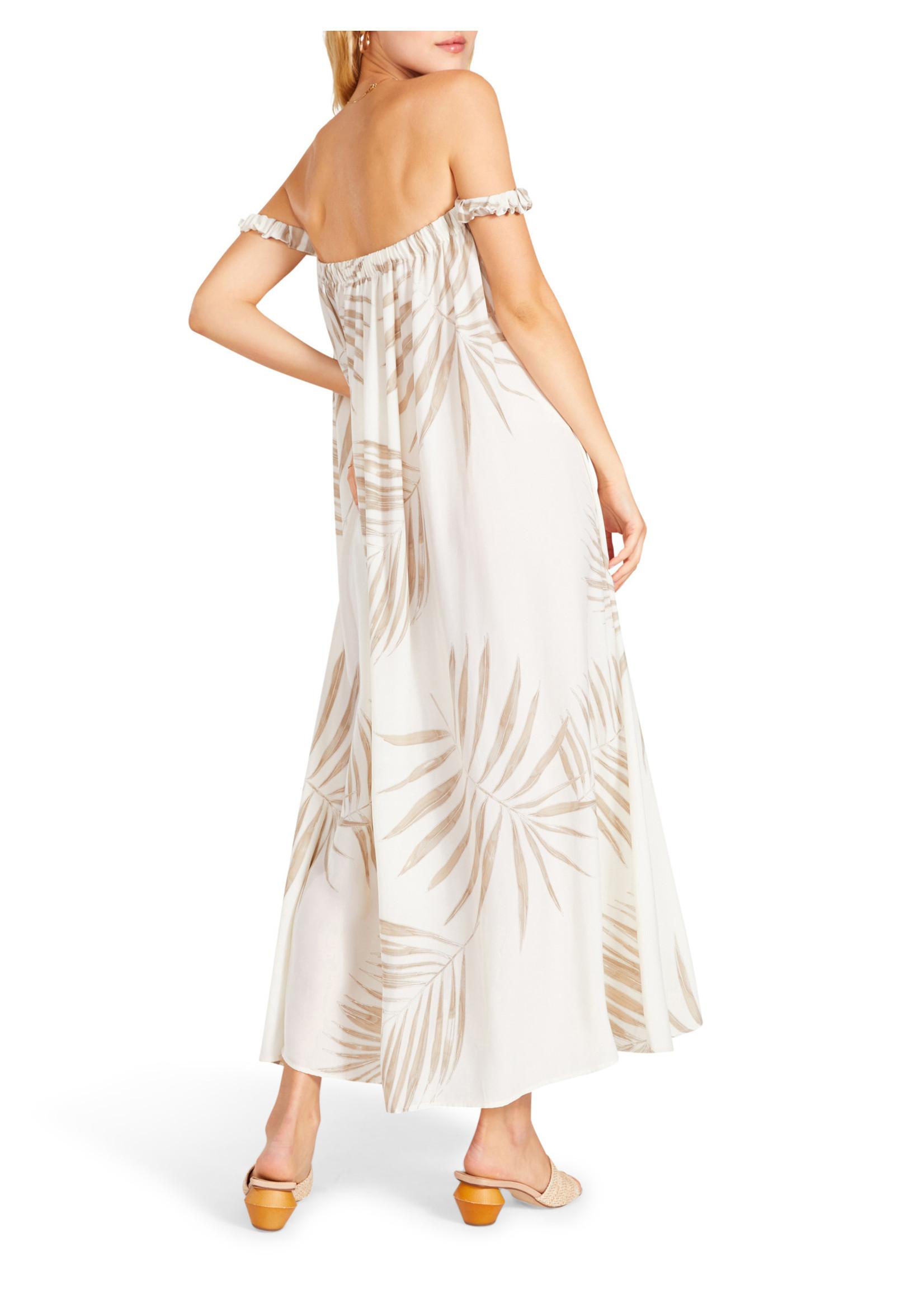 BB Dakota Palm Down Off The Shoulder Dress - BL208137