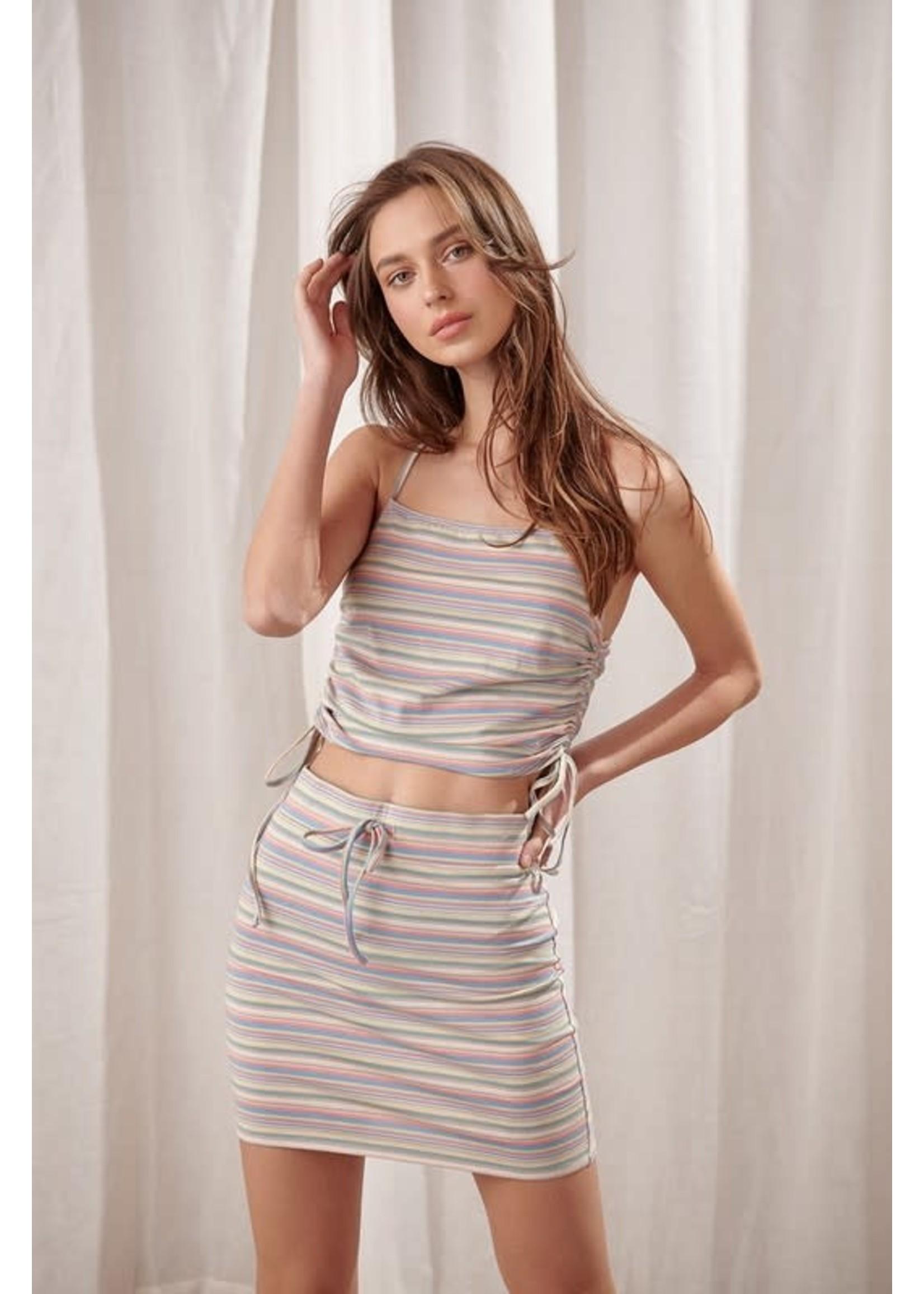 Storia Bodycon Striped Mini Skirt -  BS2081