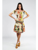 Barok Paris Tropical Skirt  with Macrame Belt - 21065