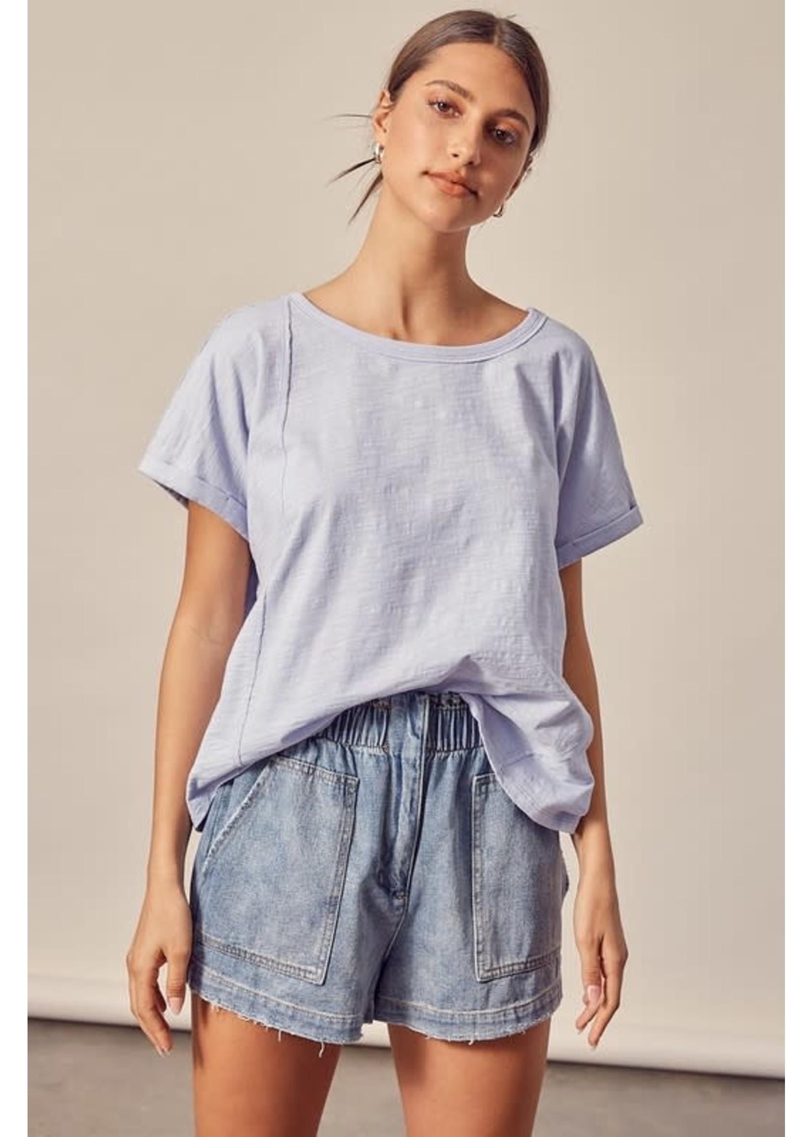 Mustard Seed Solid Short Sleeve T-Shirt - S17393