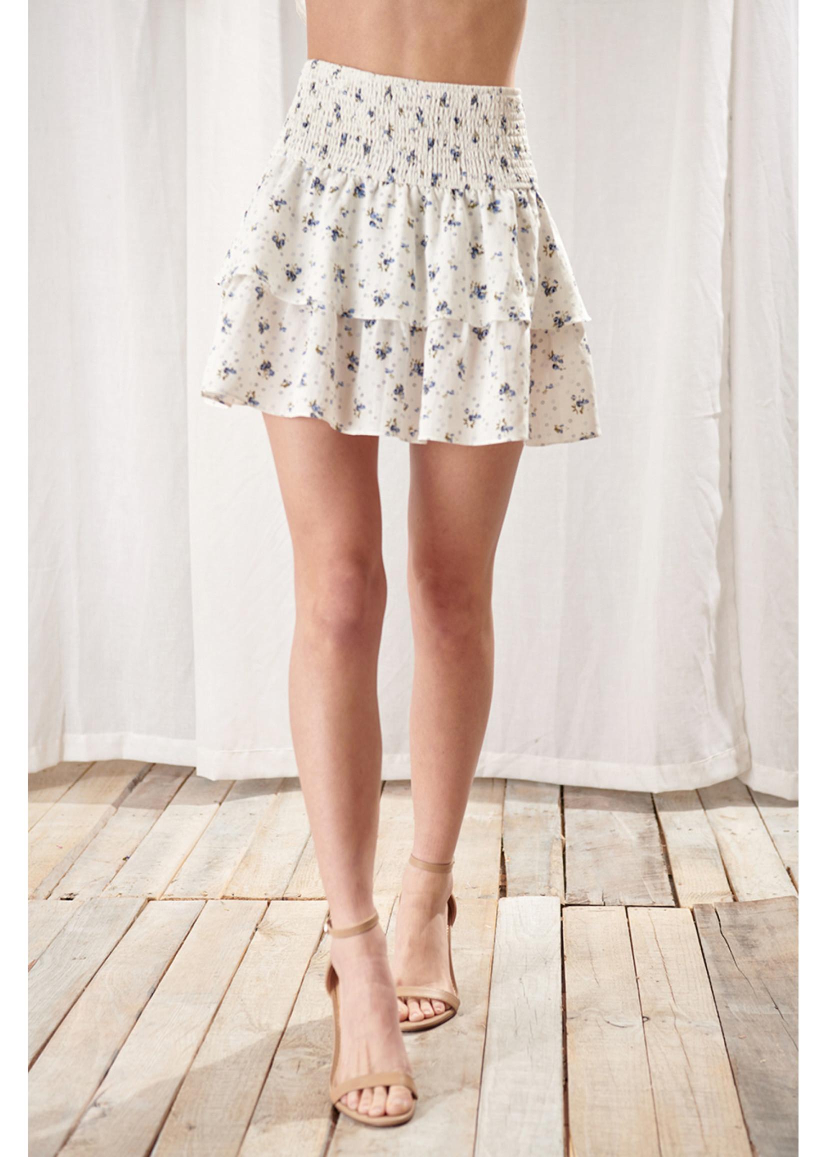 Storia Floral Peplum Skirt - JS3557