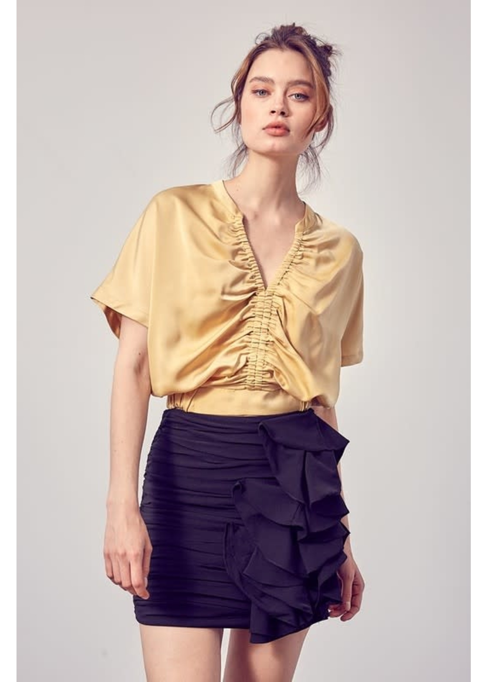 Do+BE Front Ruched Top - Y20312