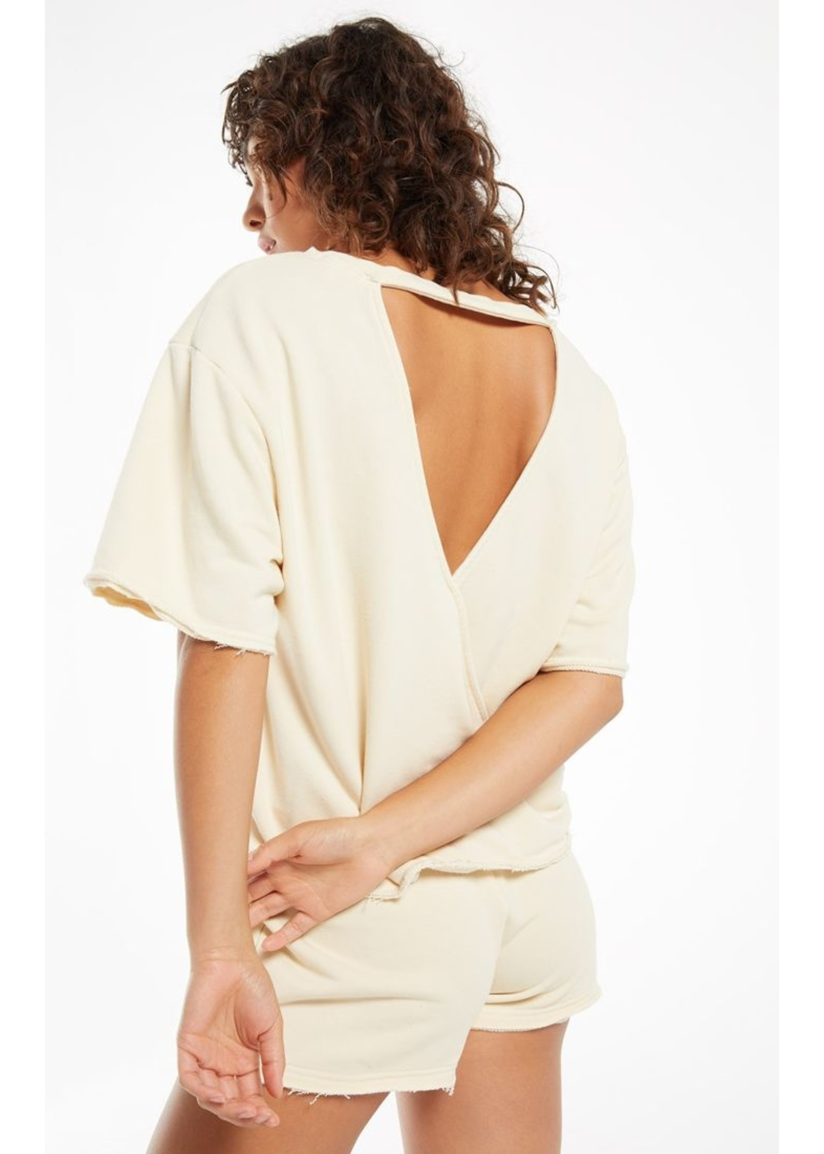 Z Supply Calla Open Back Washed Pull Over- ZT212557