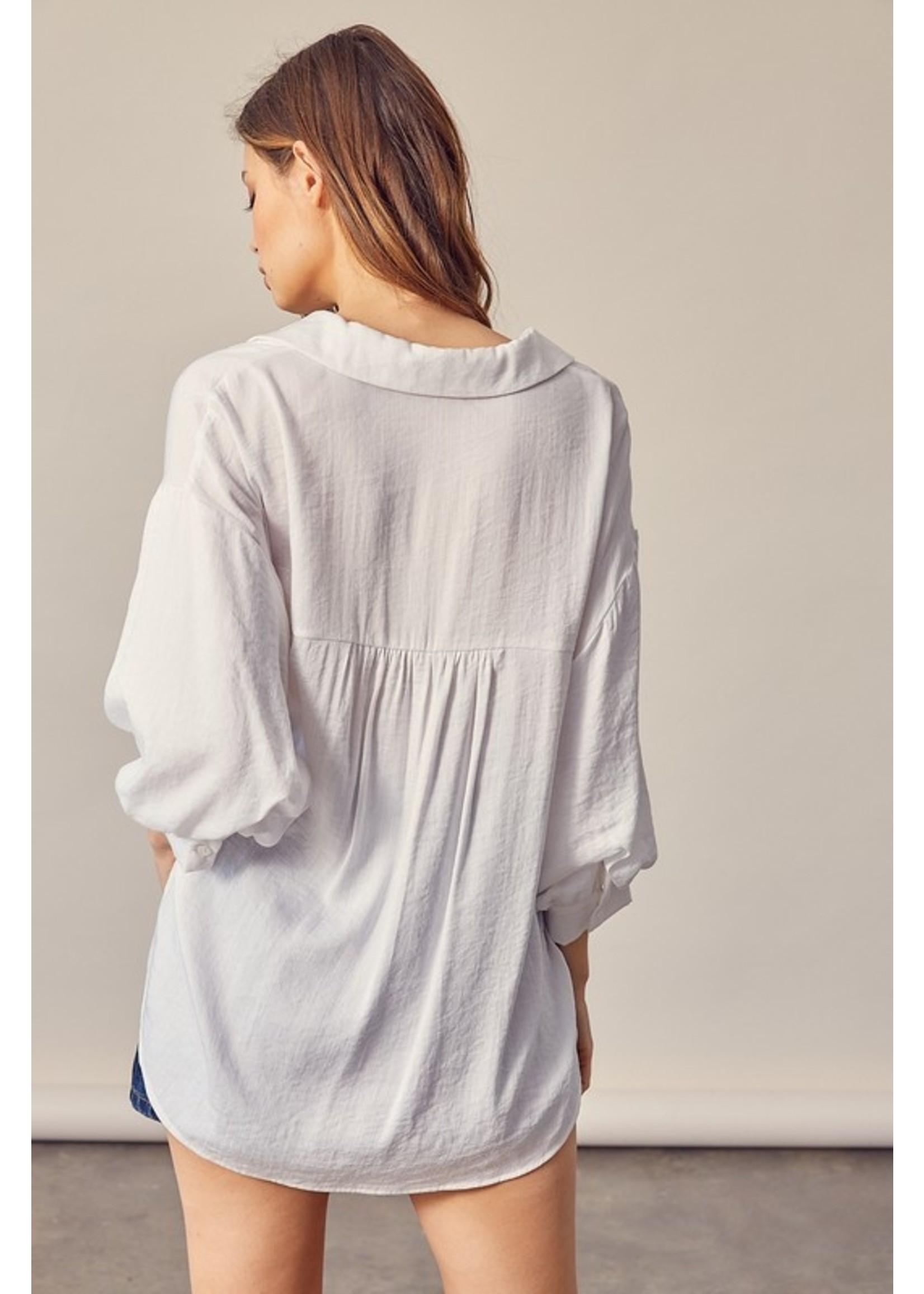 Mustard Seed V-Neck Collar Shirt - S18571