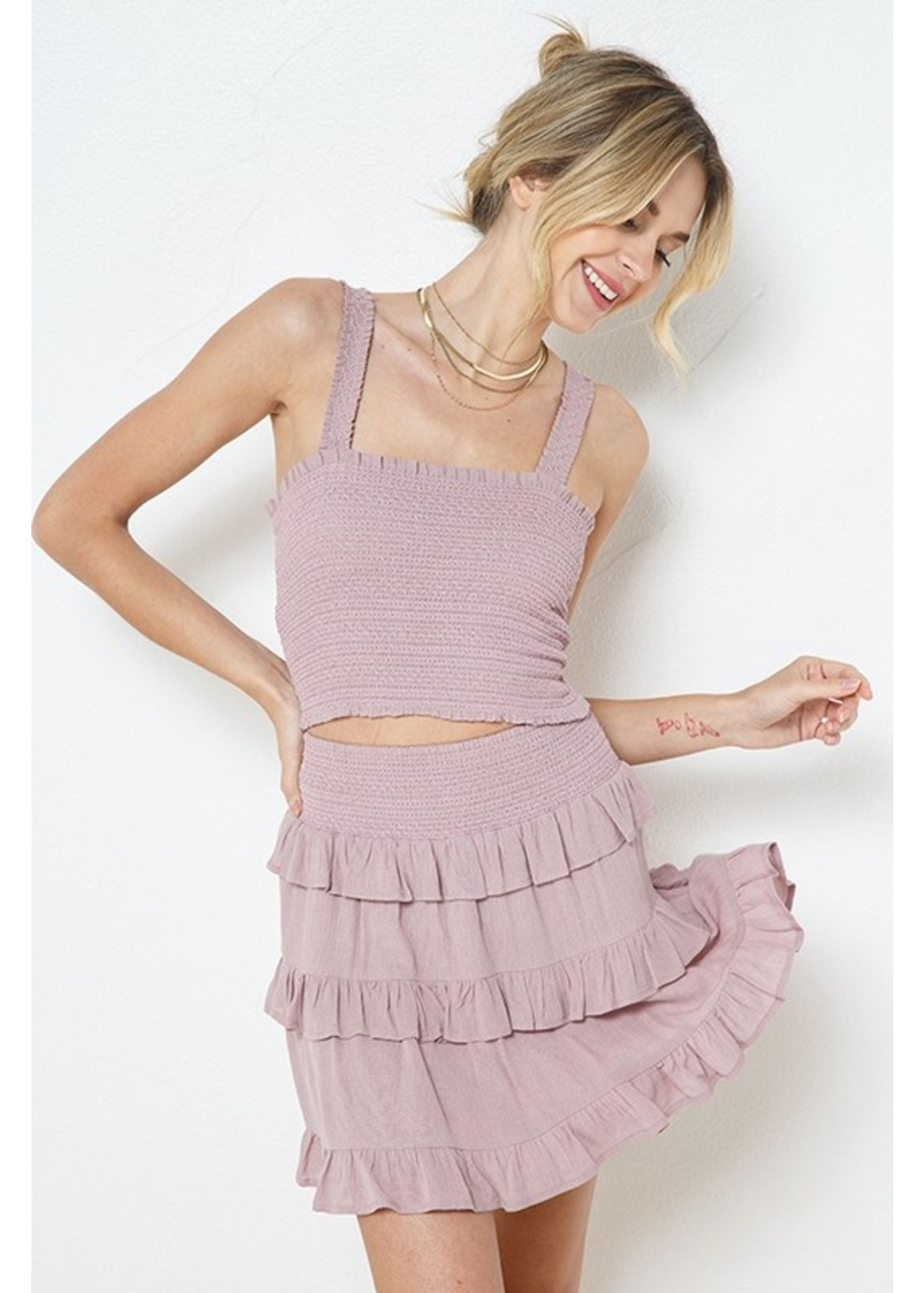 Illa Illa Embroidered Top and Skirt SET - IM5992