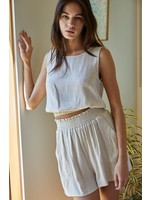 By Together Woven Linen Sleeveless Top - L4886