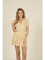 Vintage Havana Summer Floral Smocked Waist Ruffle Skirt - TX9553