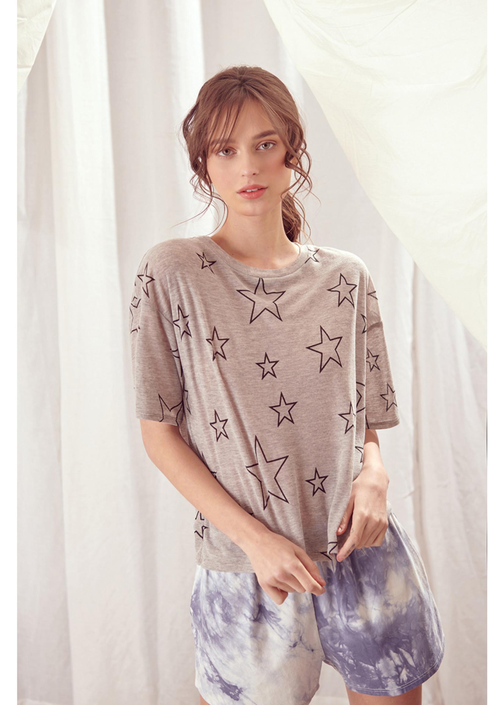 Storia Star Print Boxy T-Shirt - BT2049