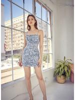 idem ditto Paisley Print Open Back Mini Dress - S12134DKA